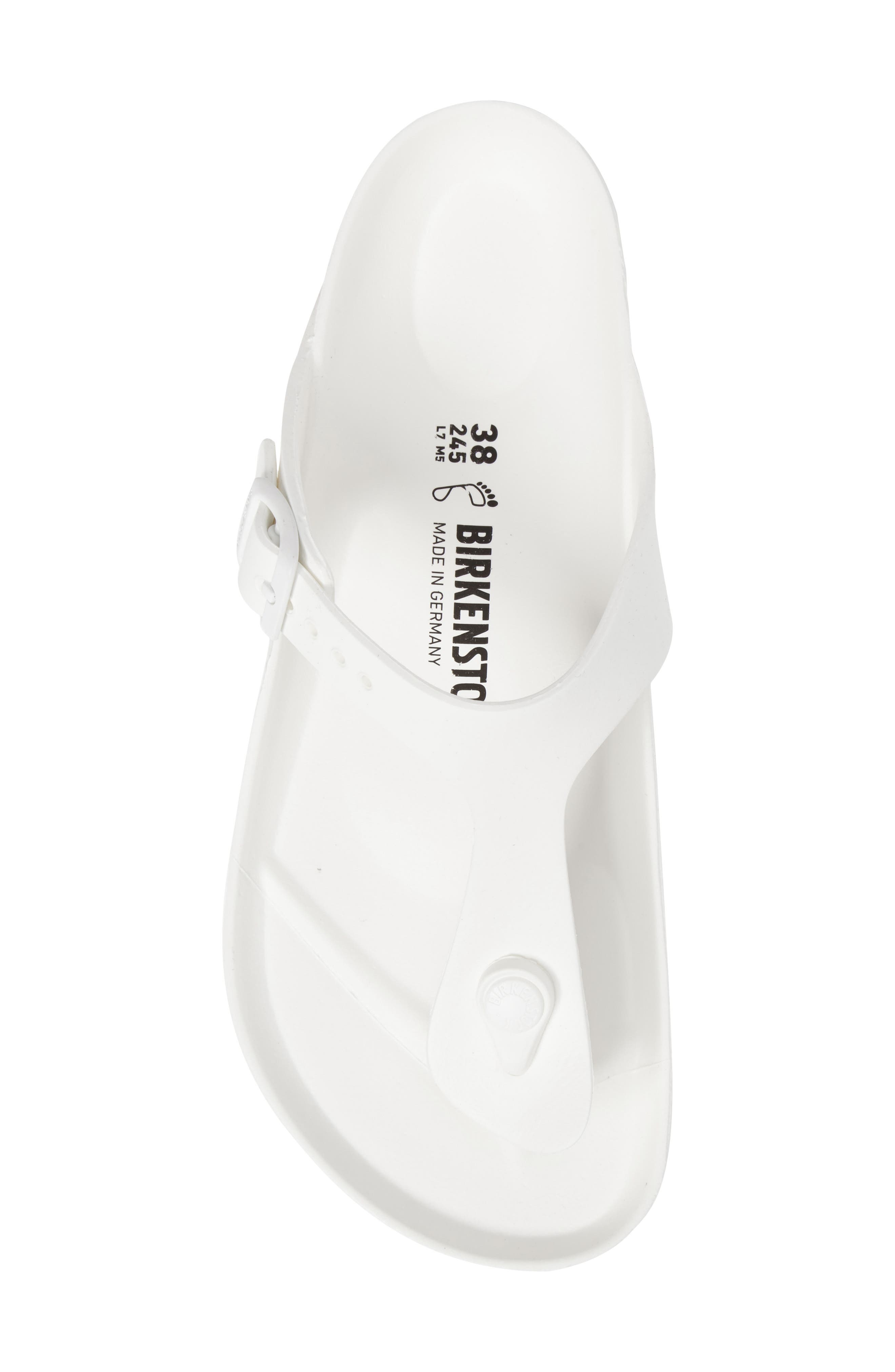 Essentials - Gizeh Flip Flop,                             Alternate thumbnail 5, color,                             WHITE