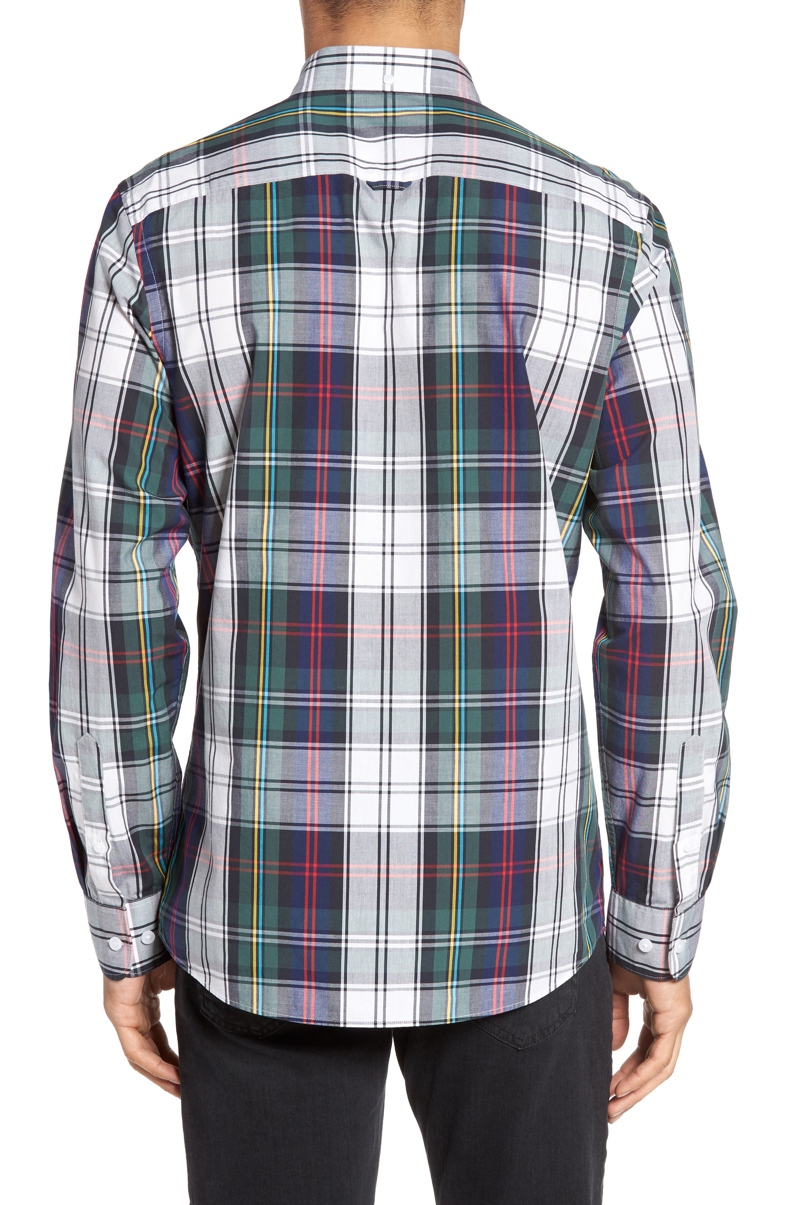 Slim Fit Plaid Sport Shirt,                             Alternate thumbnail 2, color,                             401
