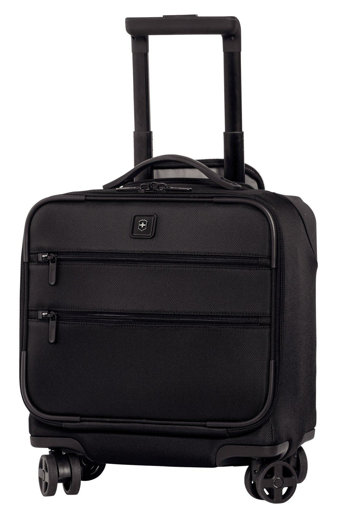 Lexicon Dual Caster Wheeled Boarding Tote,                             Main thumbnail 1, color,                             001