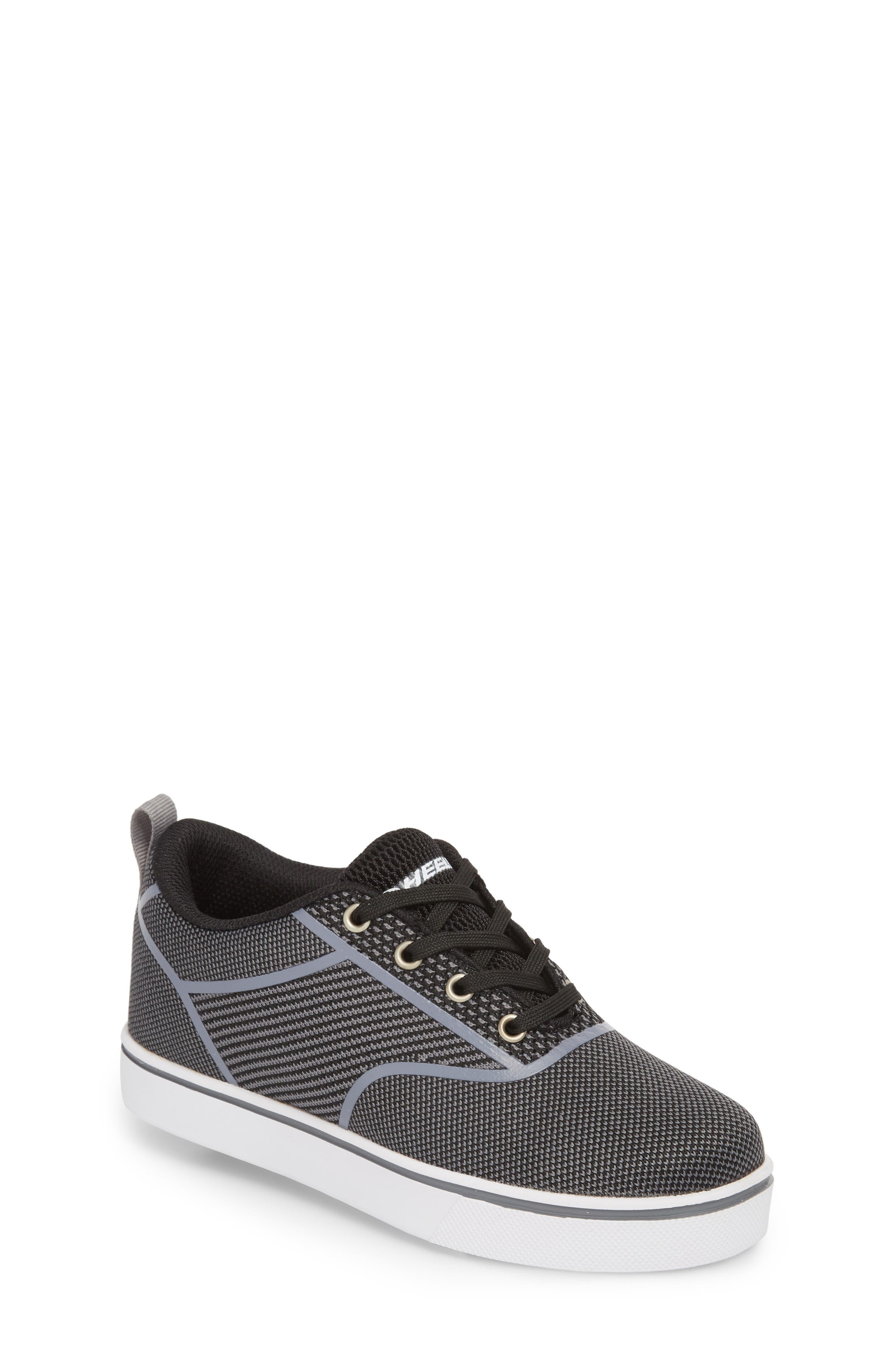 Launch Knit Sneaker,                         Main,                         color, BLACK/ CHARCOAL