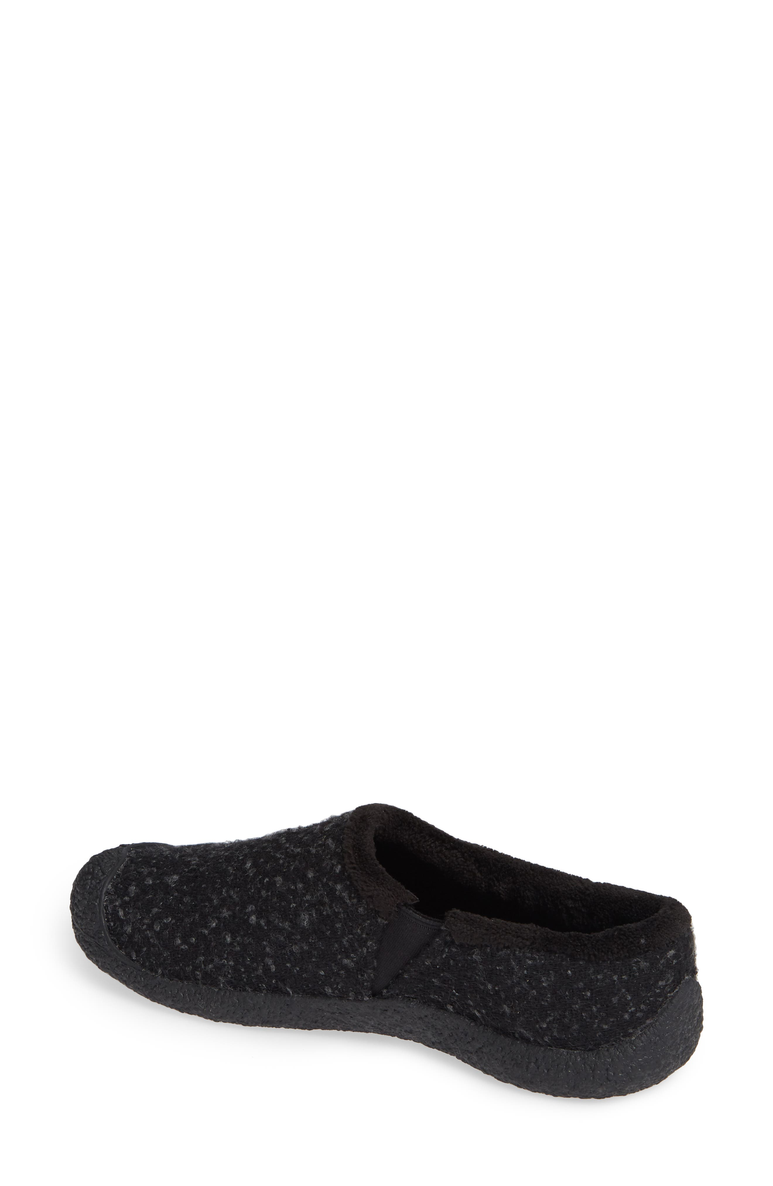 Howser Round Toe Wool Slip-on,                             Alternate thumbnail 2, color,                             BLACK KNOBBY/ STEEL GREY WOOL