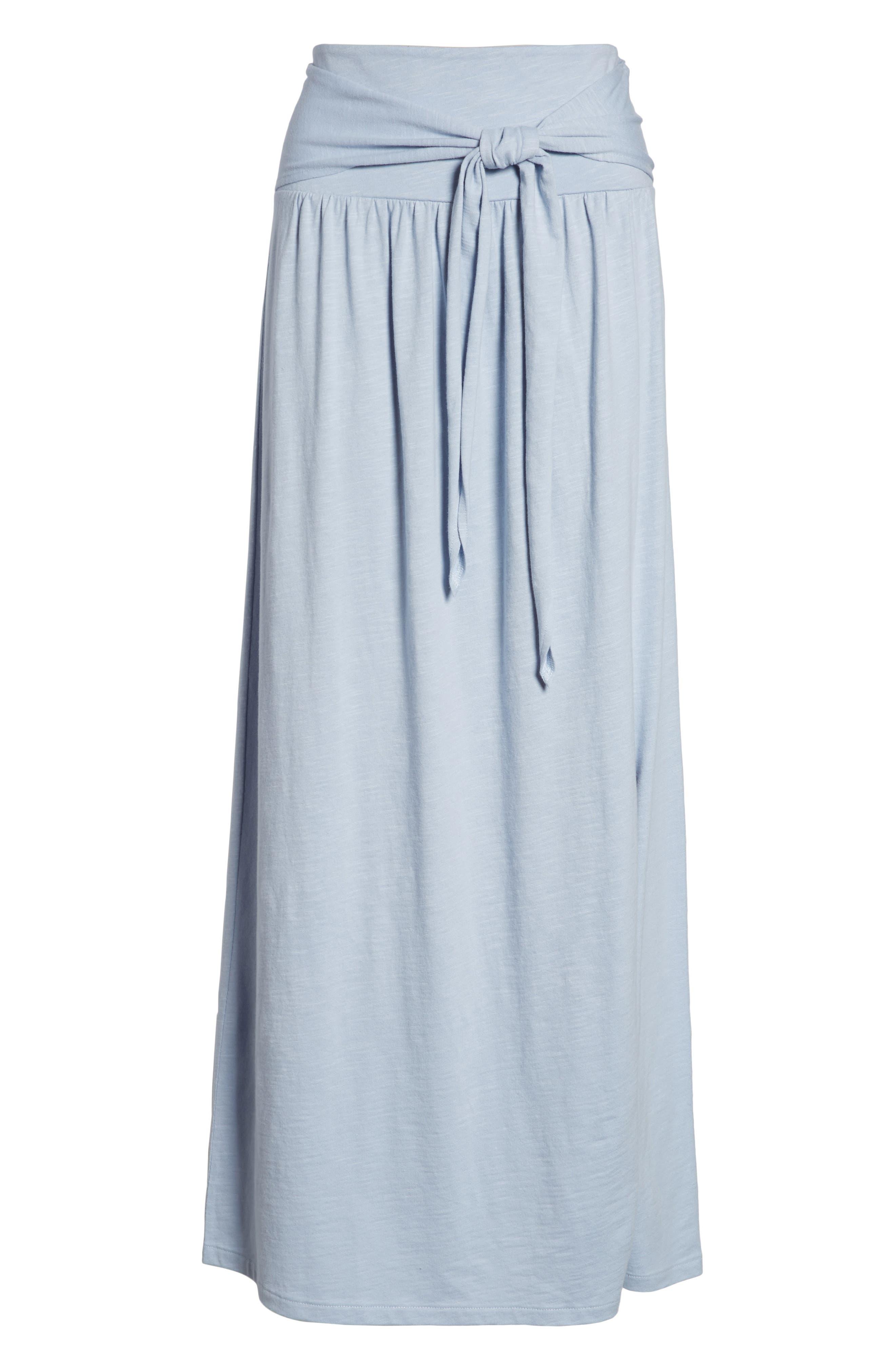 Tie Front Cotton Maxi Skirt,                             Alternate thumbnail 29, color,