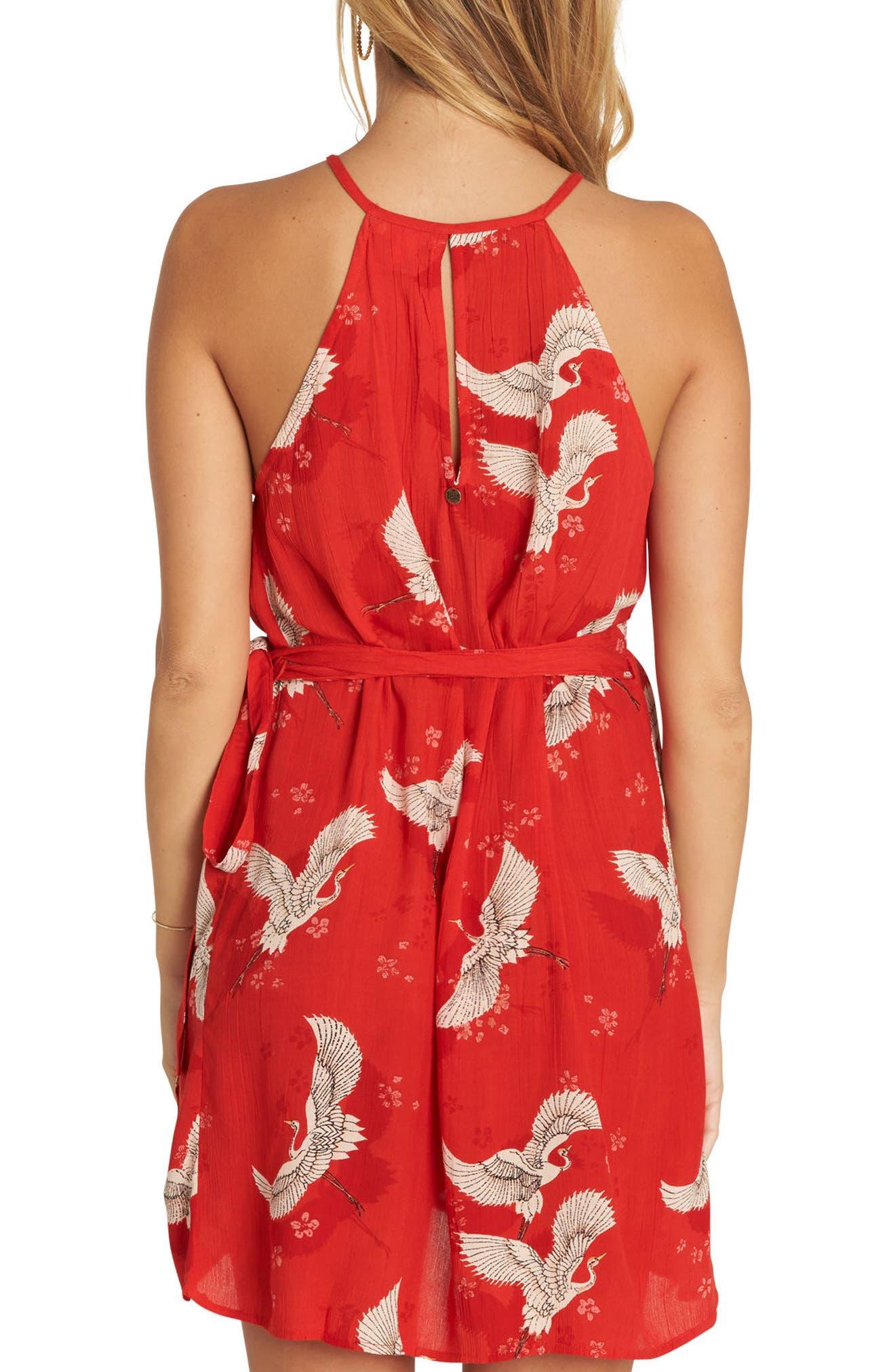Aloha Baby Print Wrap Dress,                             Alternate thumbnail 2, color,