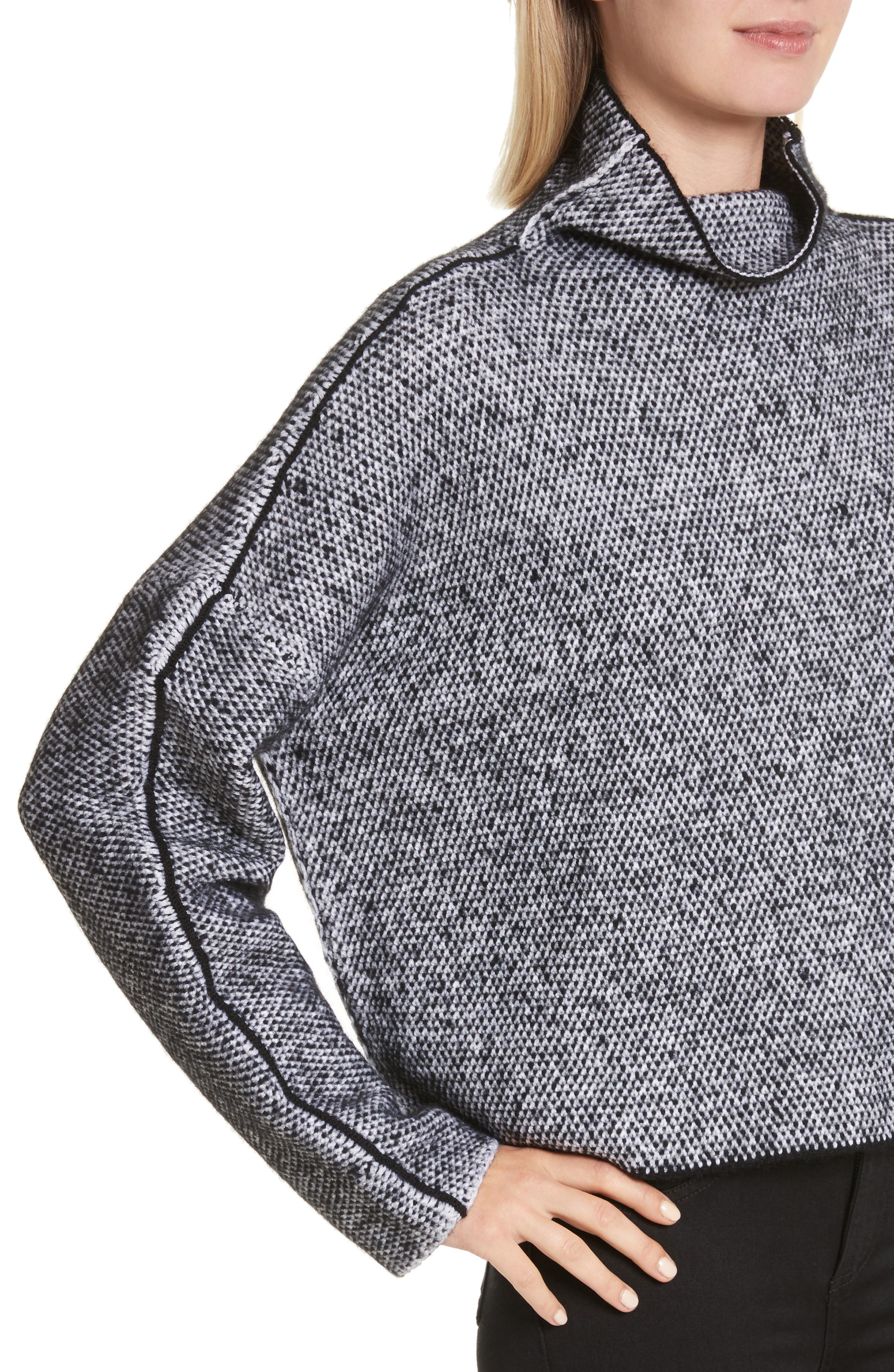 Robin Merino Wool Blend Sweater,                             Alternate thumbnail 4, color,                             001