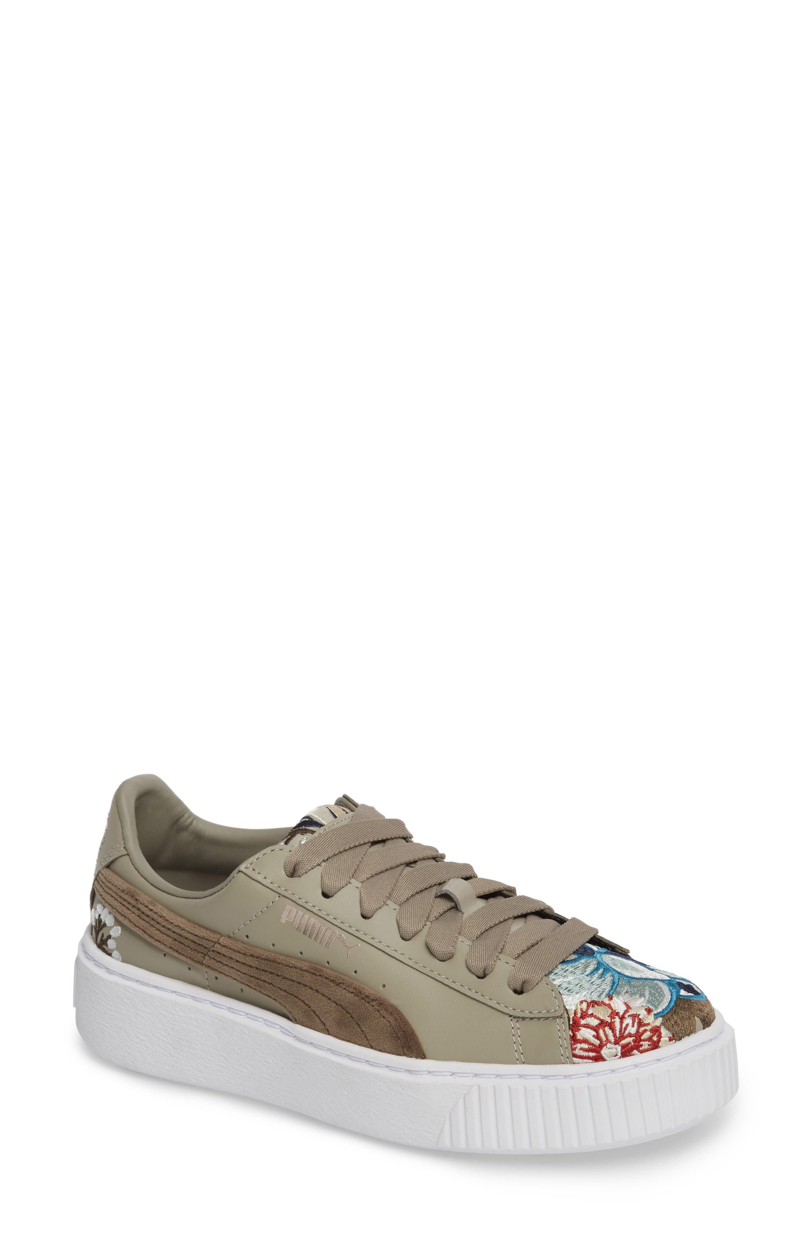 Platform Hyper Embroidered Sneaker,                         Main,                         color, 020