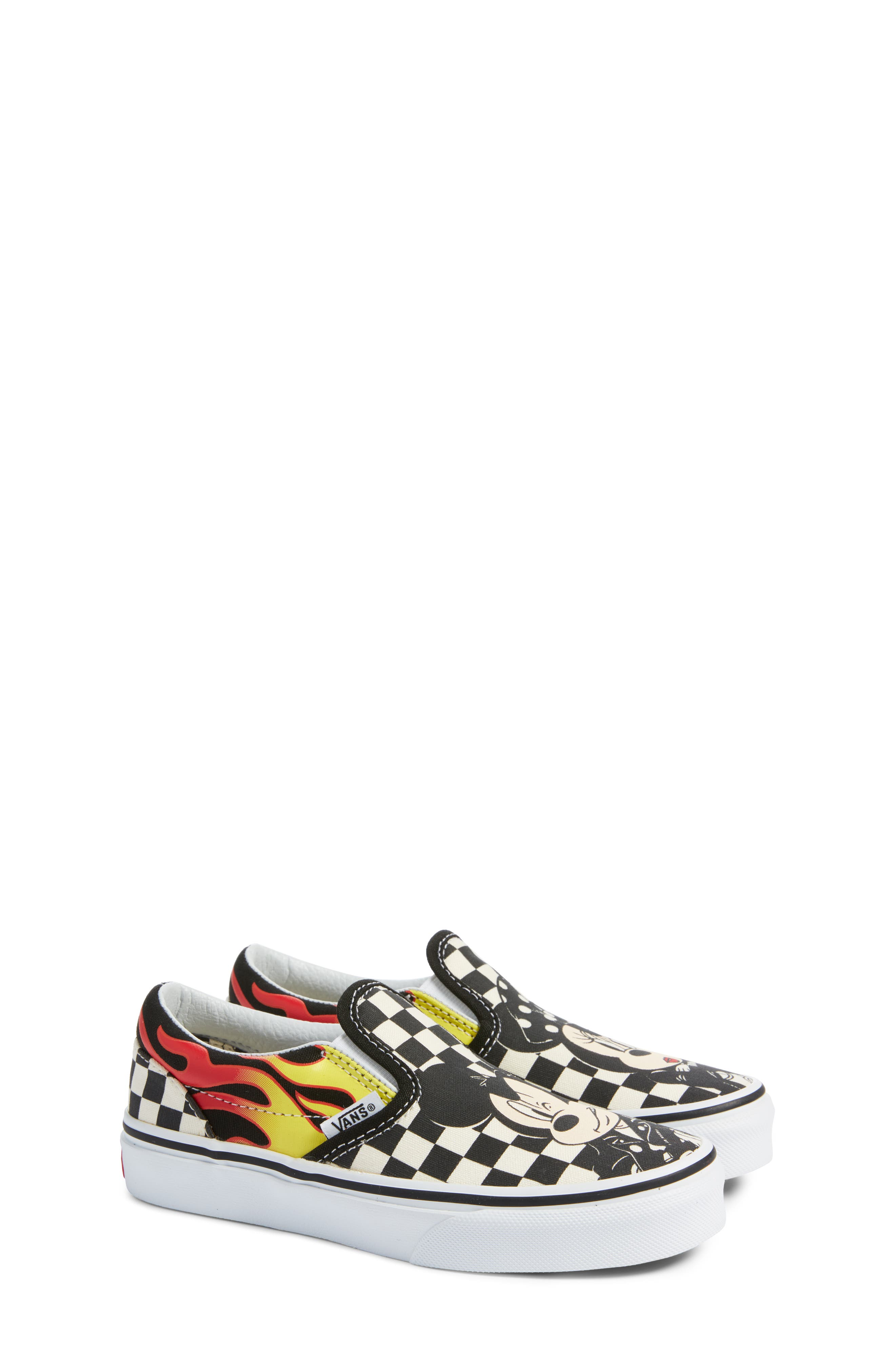 x Disney Mickey Mouse Classic Slip-On Sneaker,                             Alternate thumbnail 2, color,                             DISNEY MICKEY MINNIE