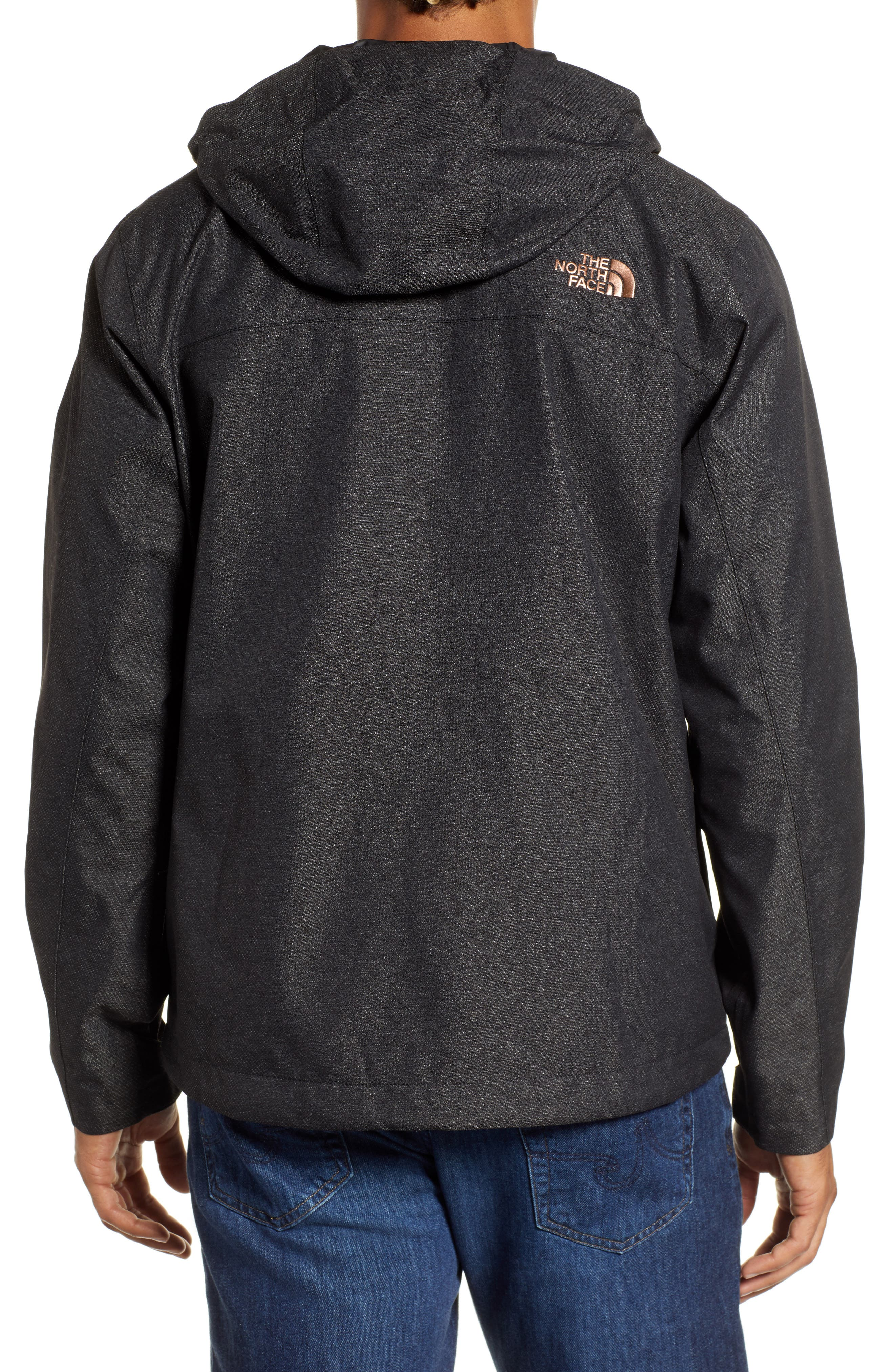 Millerton Hooded Waterproof Jacket,                             Alternate thumbnail 2, color,                             TNF BLACK / METALLIC COPPER