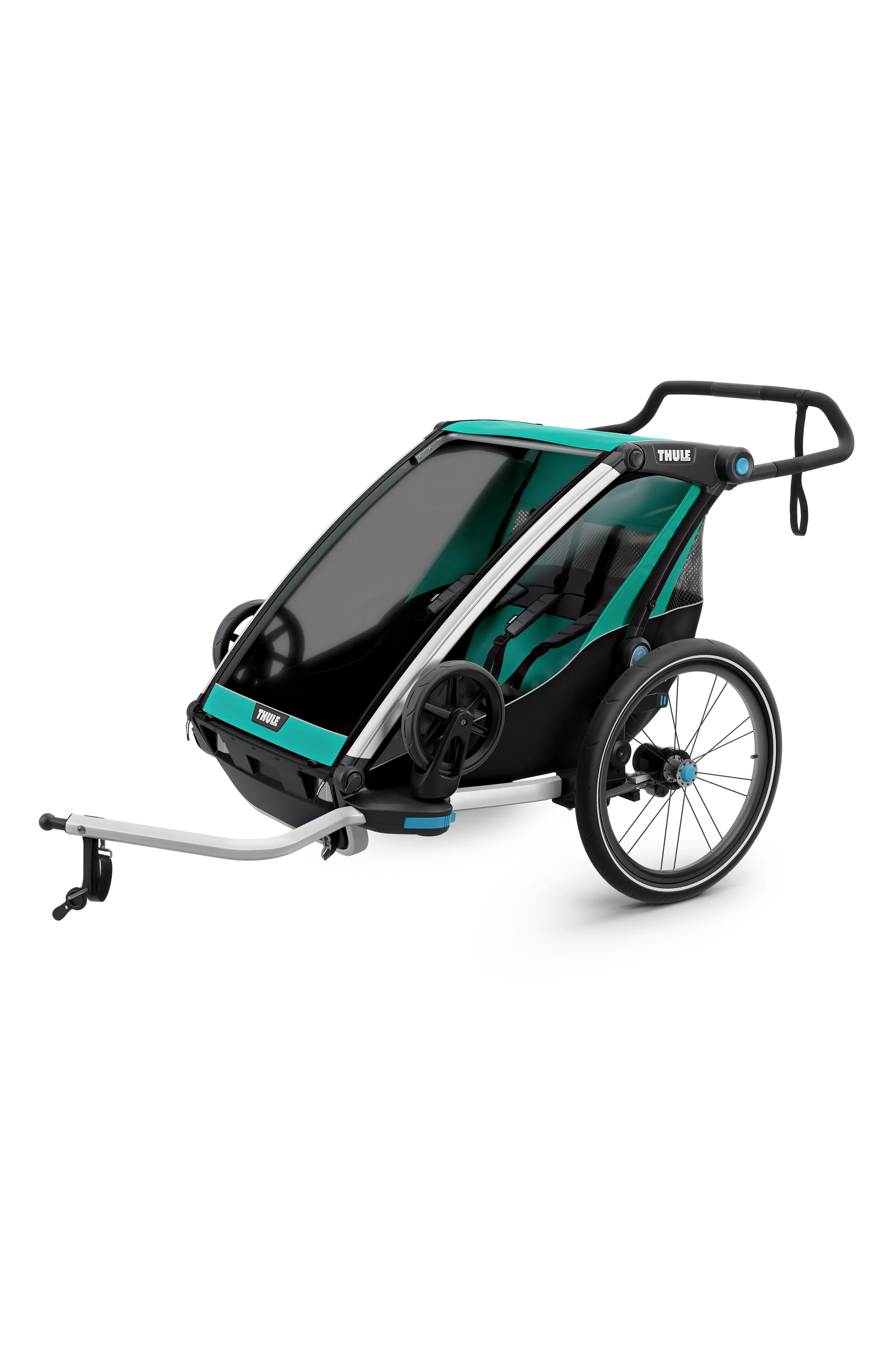 Chariot Lite 2 Multisport Double Cycle Trailer/Stroller,                             Alternate thumbnail 6, color,                             BLUEGRASS