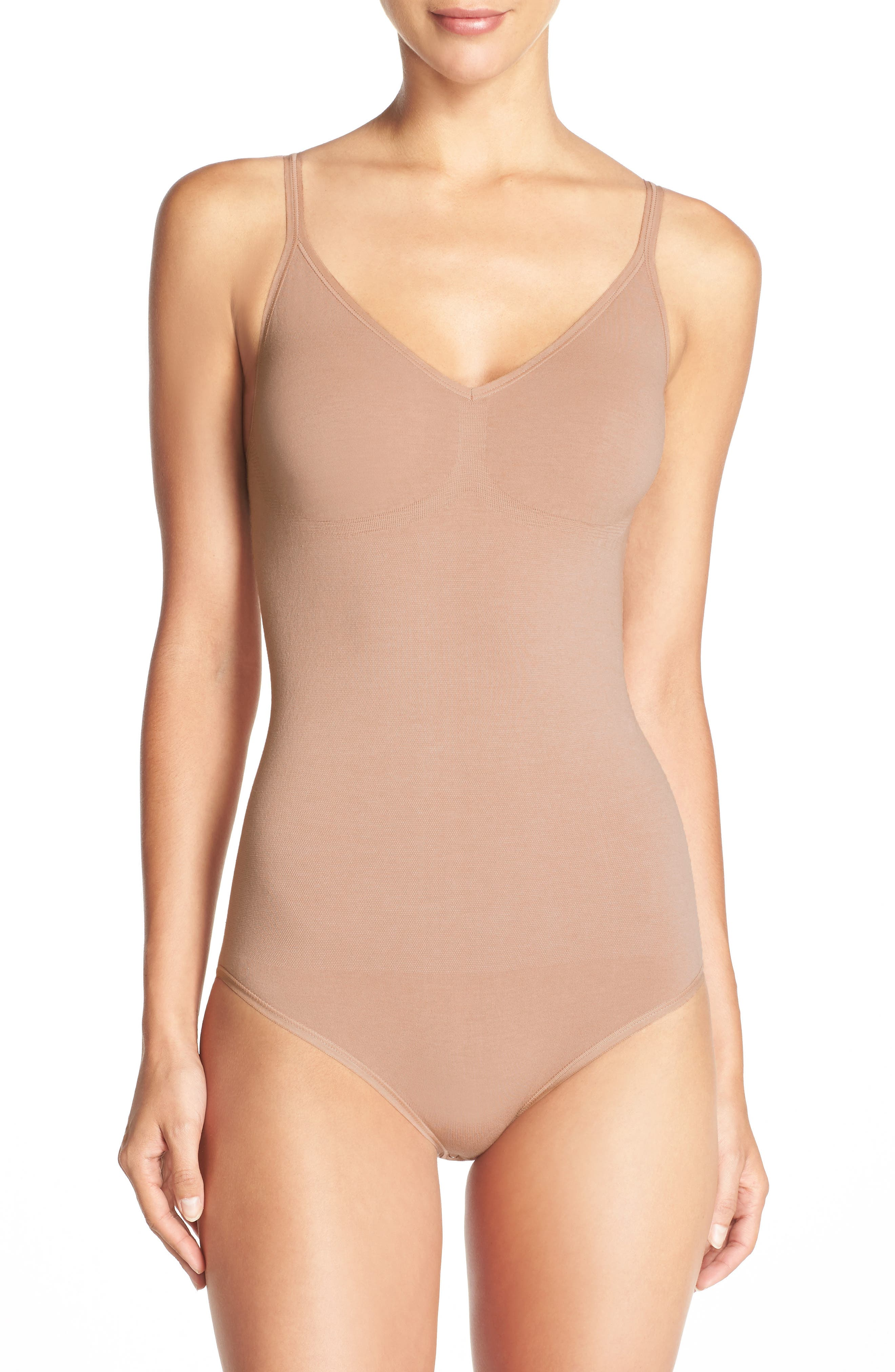 Conner Convertible Bodysuit,                             Alternate thumbnail 3, color,                             ALMOND