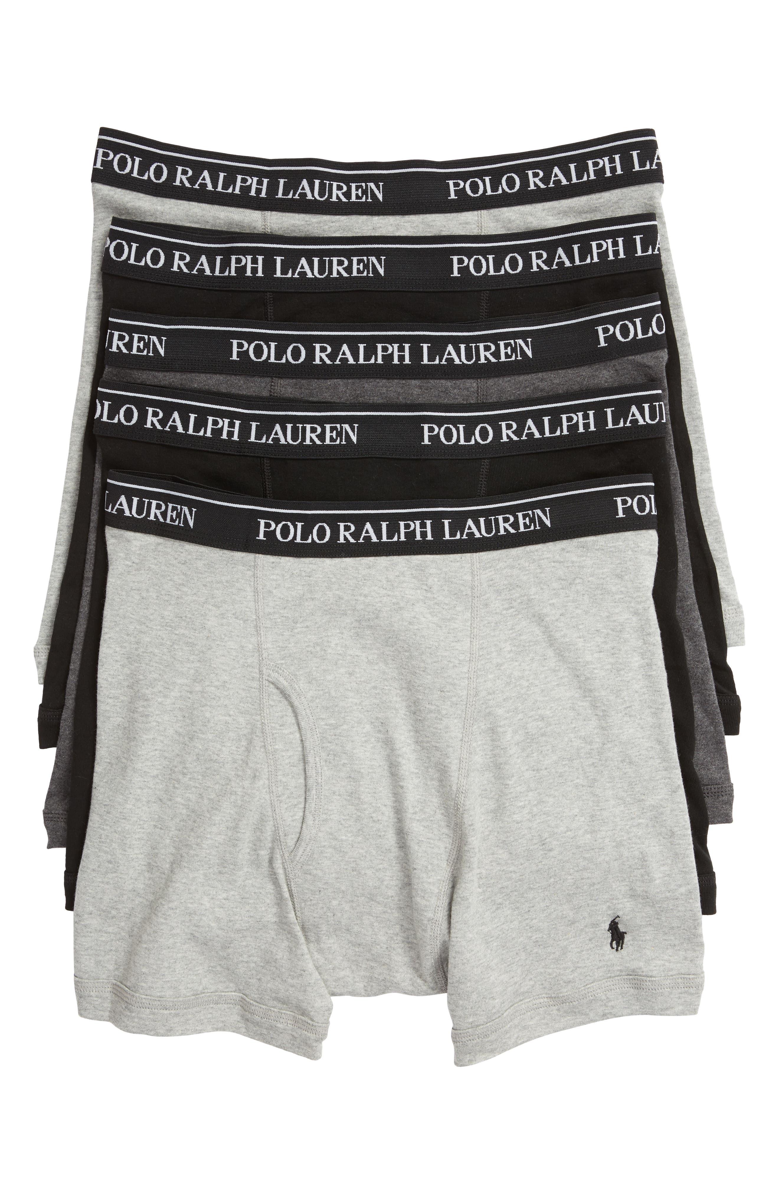 Polo Ralph Lauren 5-Pack Cotton Boxer Briefs,                             Main thumbnail 1, color,                             2ANDHTH/MA