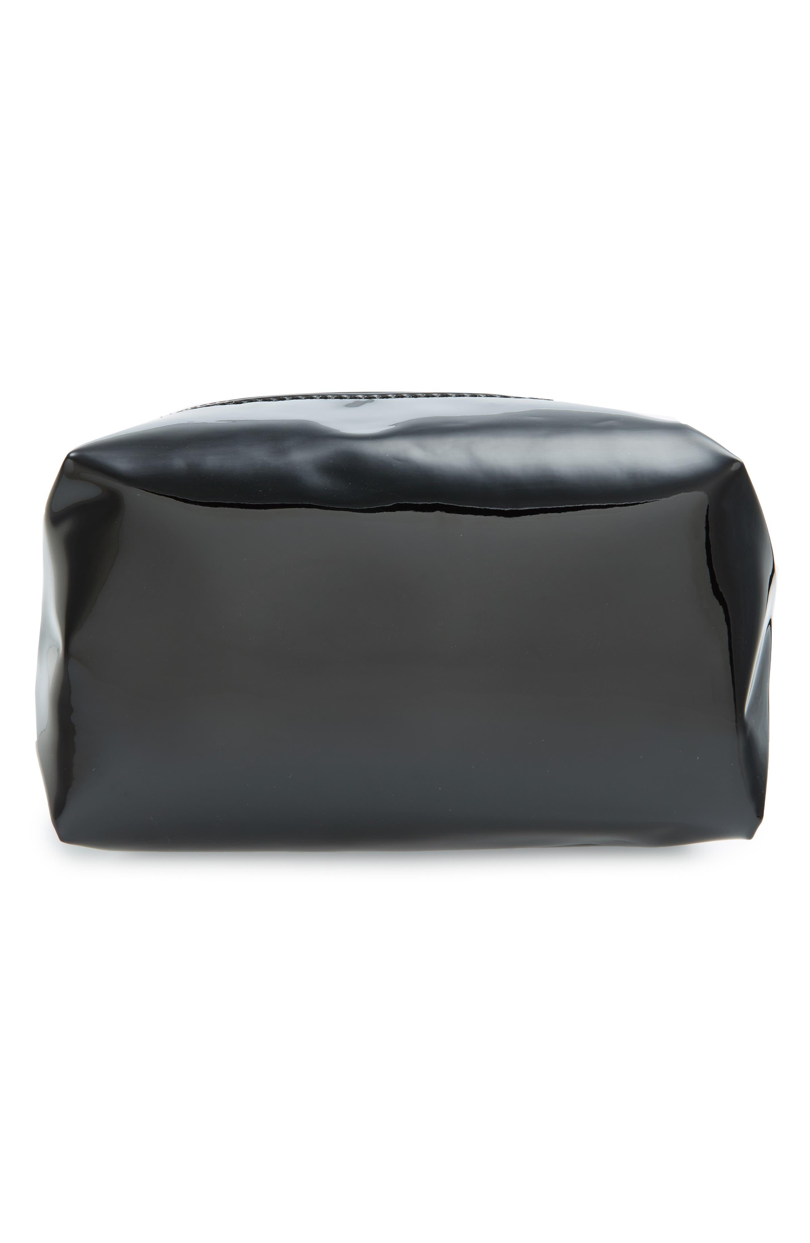 Metallic Cosmetics Bag,                             Main thumbnail 1, color,                             001