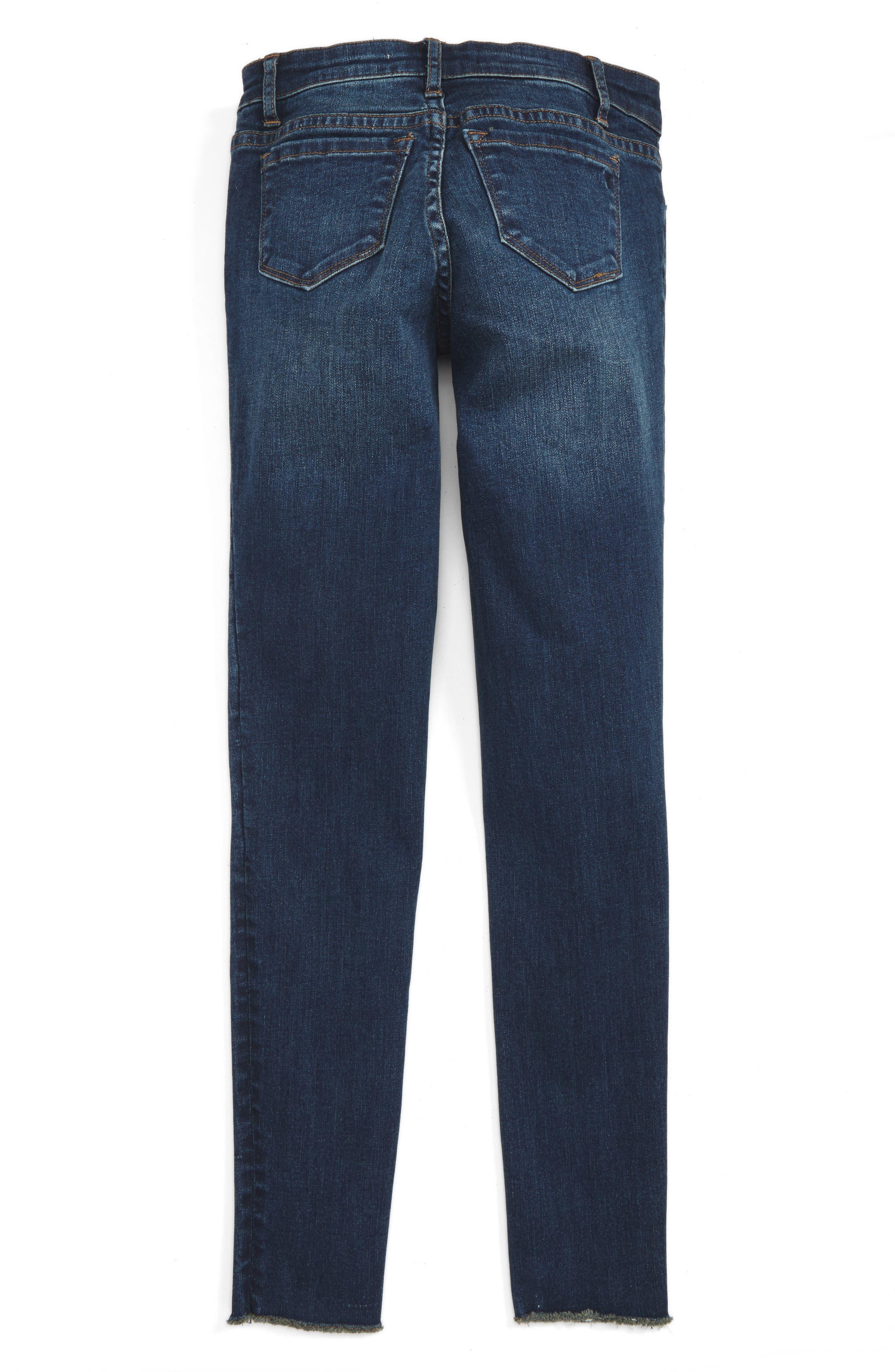 Fray Hem Skinny Jeans,                             Alternate thumbnail 2, color,                             407