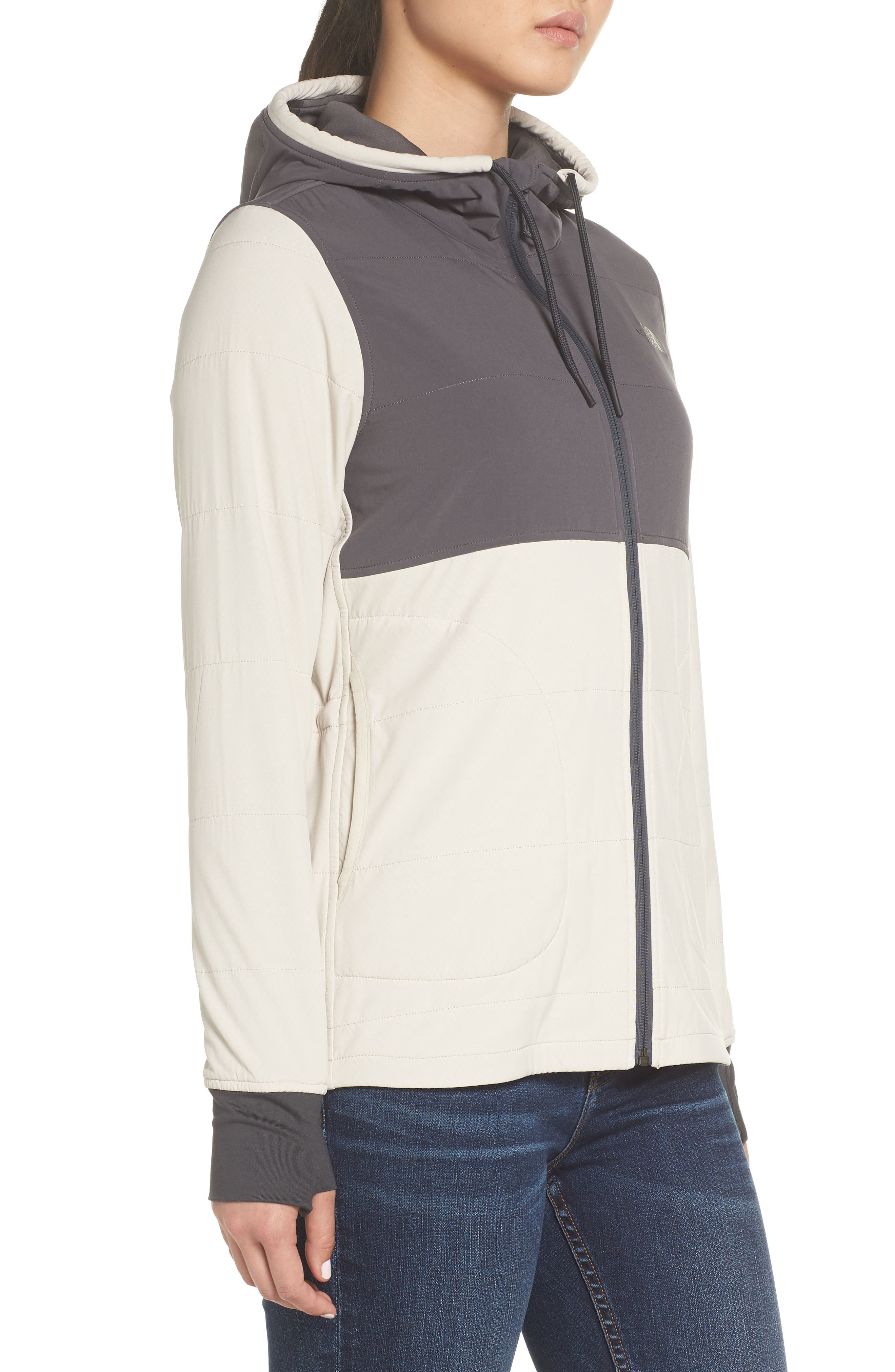 Mountain Zip Hooded Sweatshirt,                             Alternate thumbnail 3, color,                             PEYOTE BEIGE/ GRAPHITE GREY