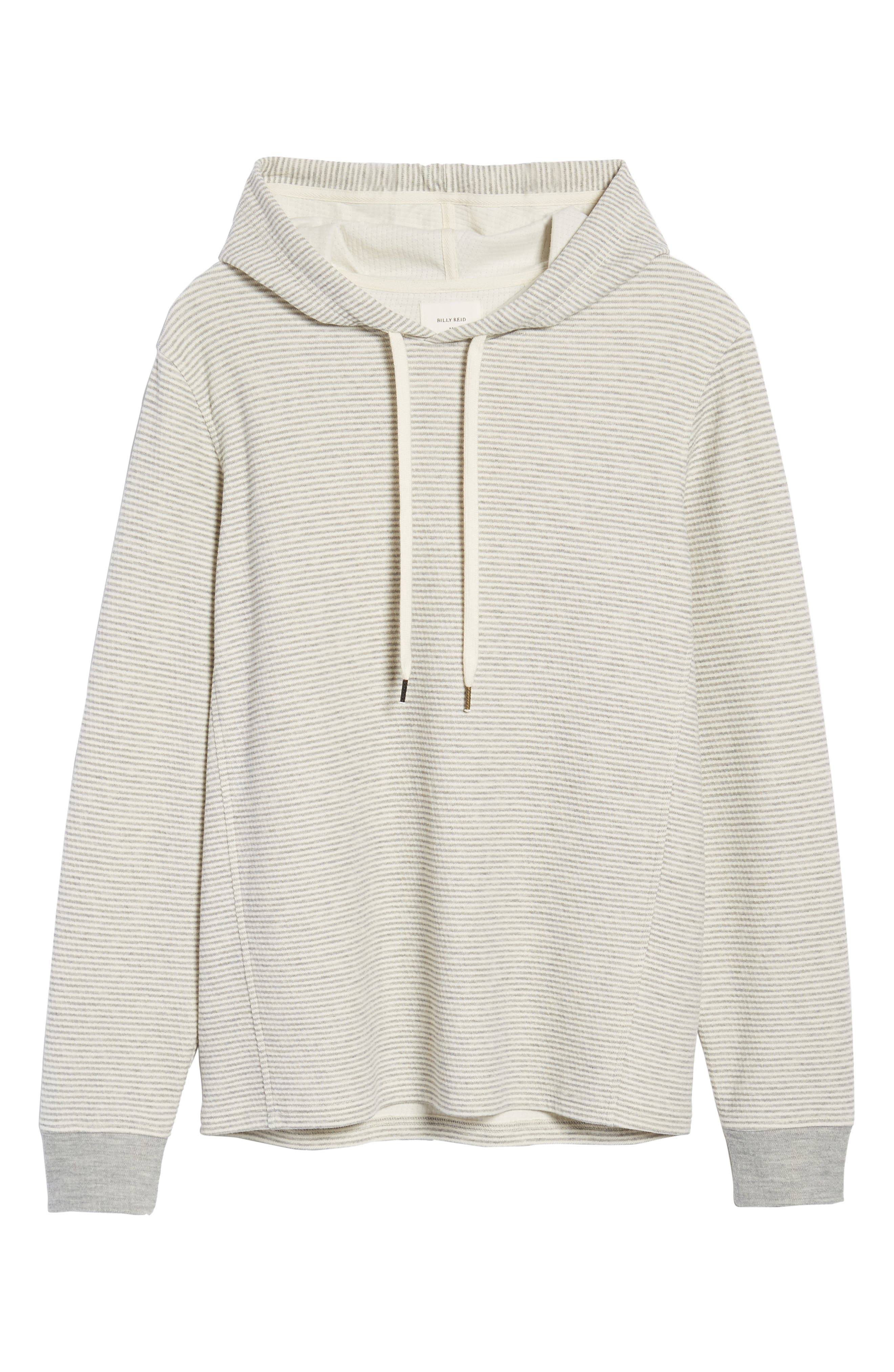 Cotton Blend Hoodie,                             Alternate thumbnail 6, color,                             GREY/ NATURAL