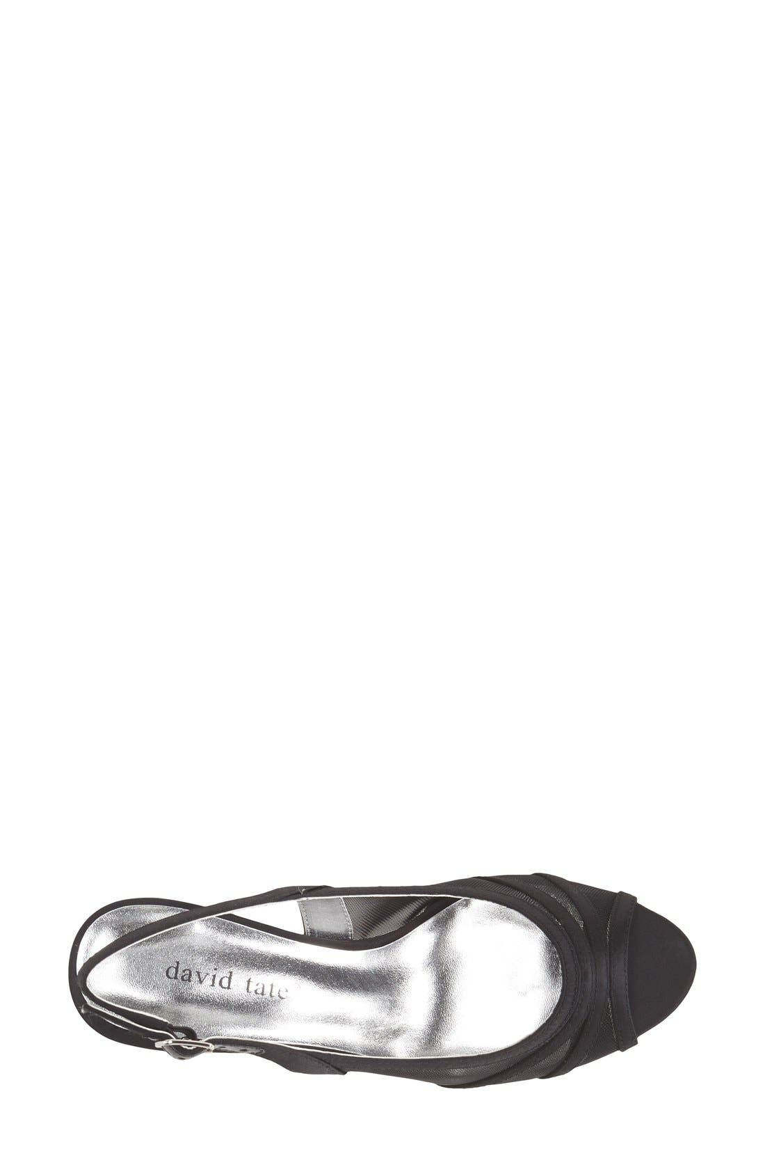 'Petal' Open Toe Slingback Pump,                             Alternate thumbnail 2, color,                             001