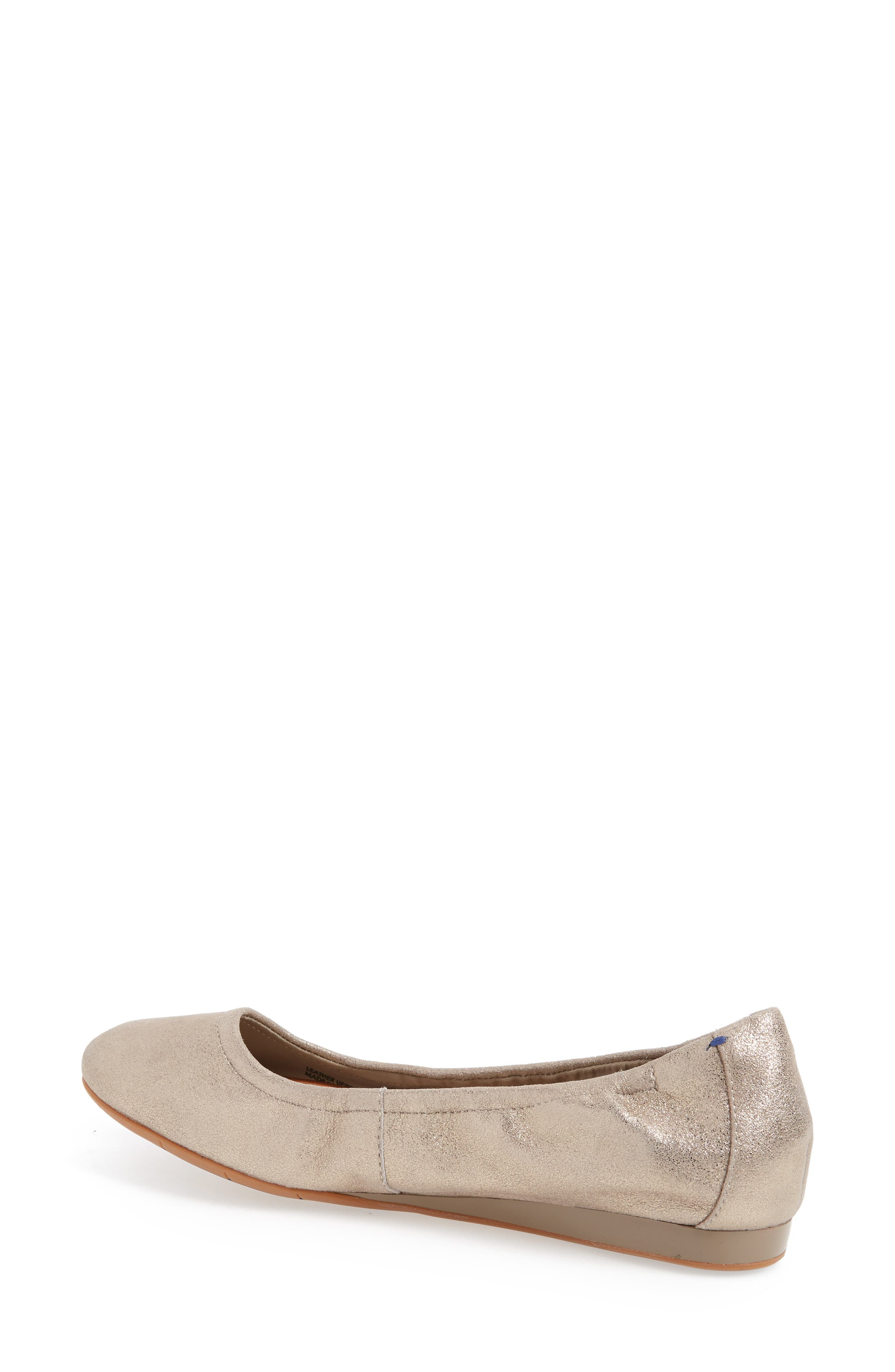 Helena Flat,                             Alternate thumbnail 2, color,                             TAUPE NUBUCK LEATHER