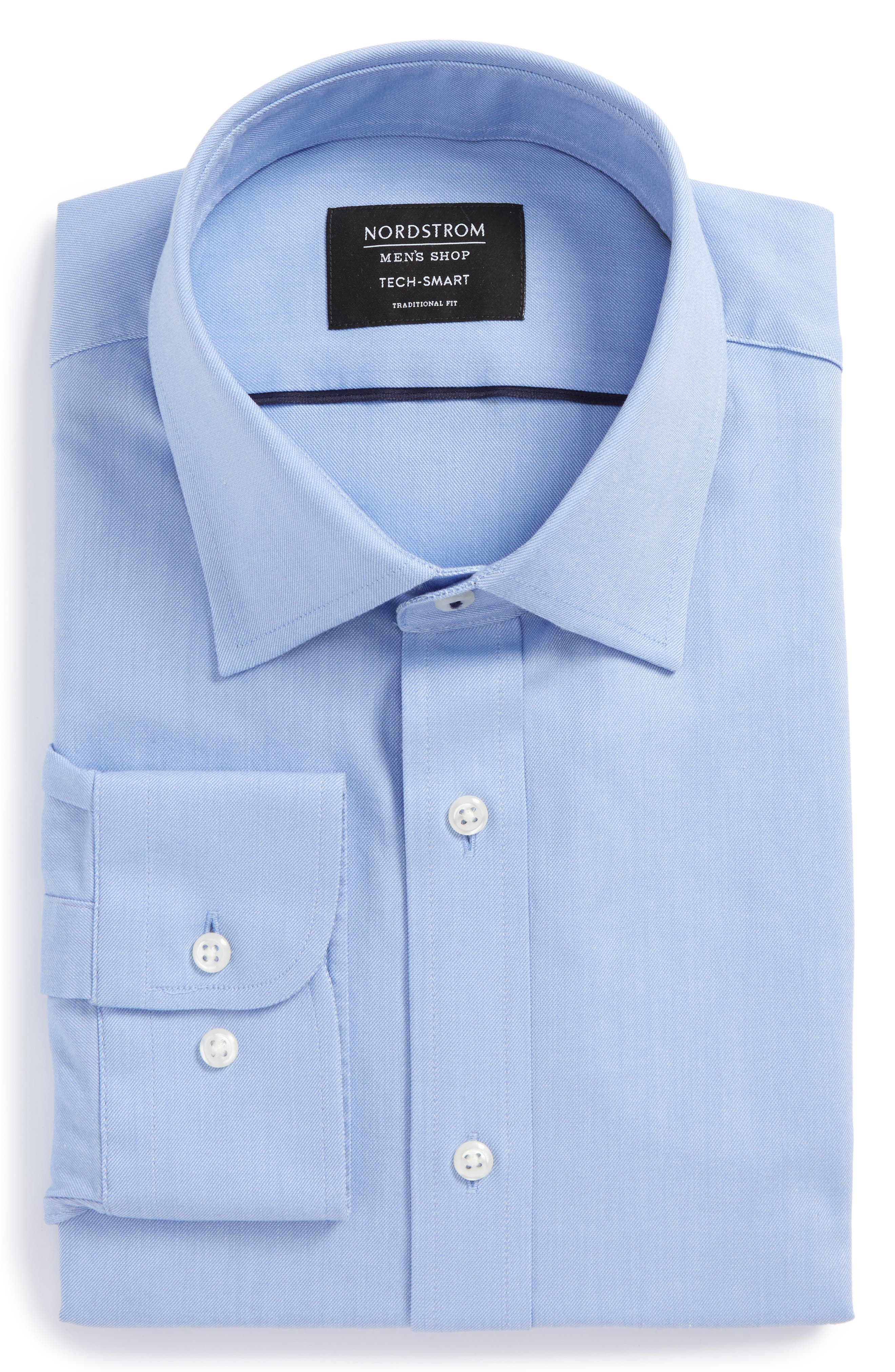 Tech-Smart Traditional Fit Stretch Solid Dress Shirt,                             Alternate thumbnail 6, color,