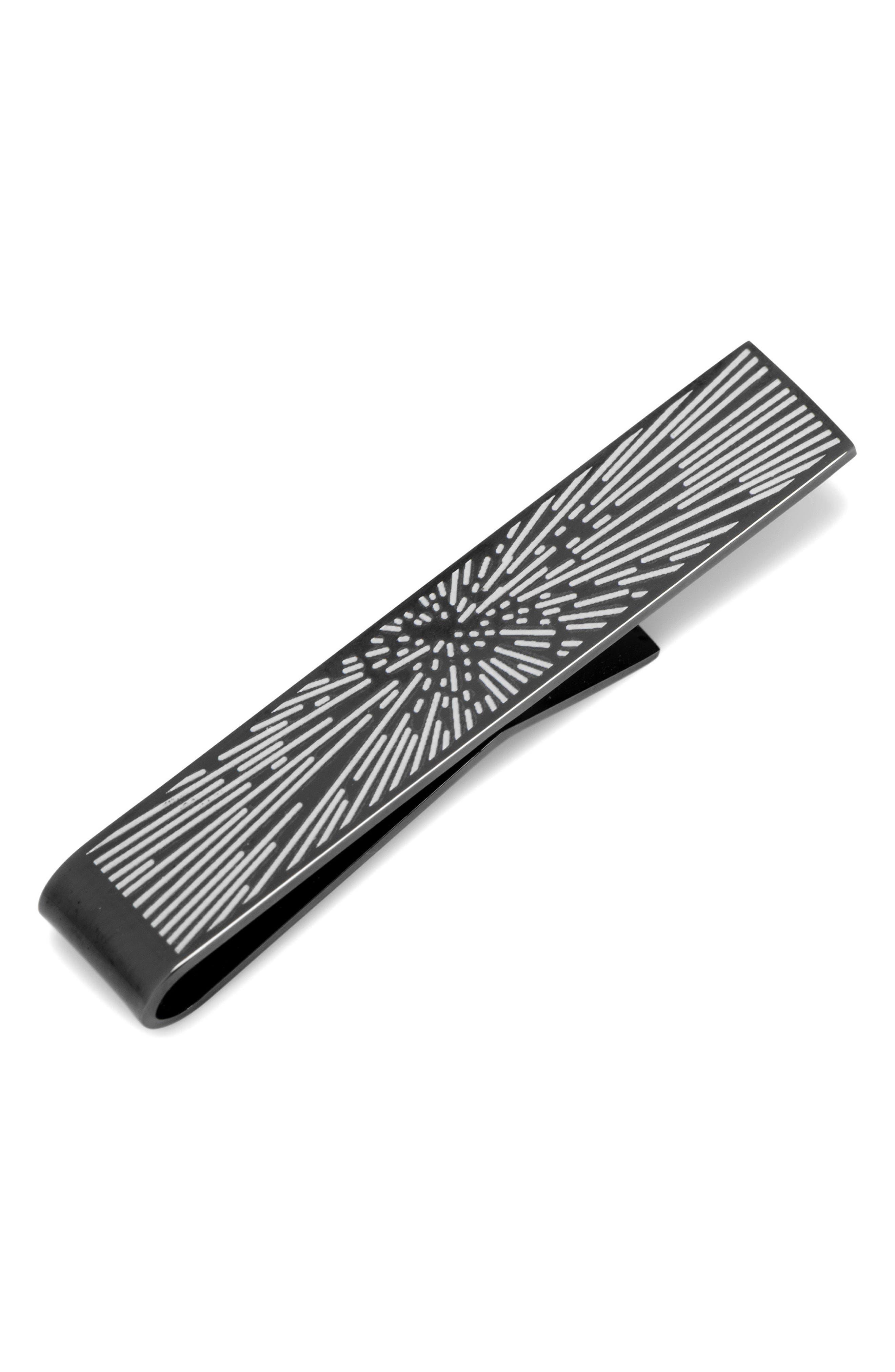CUFFLINKS, INC. Star Wars Hyperspeed Glow in the Dark Tie Bar, Main, color, BLACK
