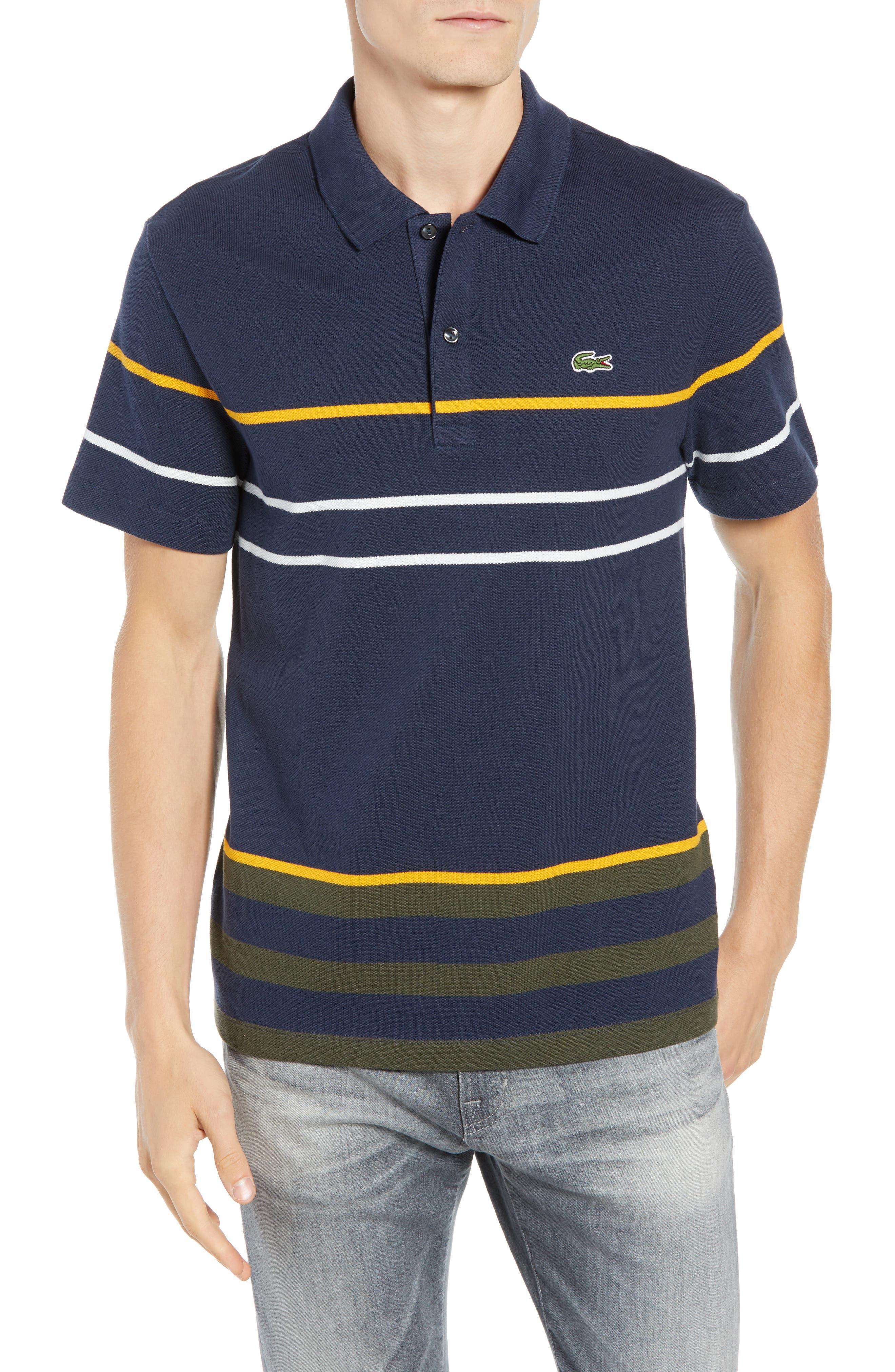 Regular Fit Stripe Cotton Polo,                         Main,                         color, DS1 MERIDIAN BLUE/ BAOBAB-POME