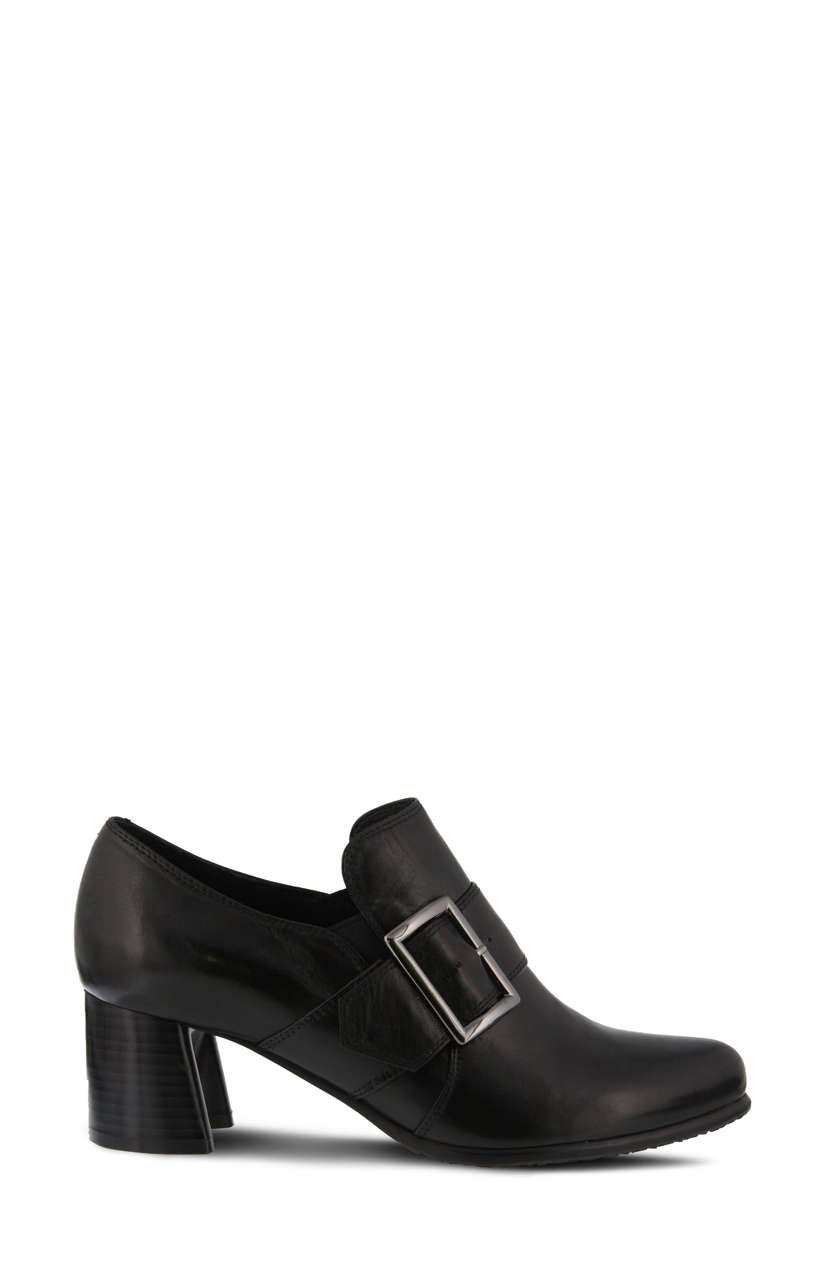 Dayana Bootie,                             Alternate thumbnail 3, color,                             BLACK LEATHER