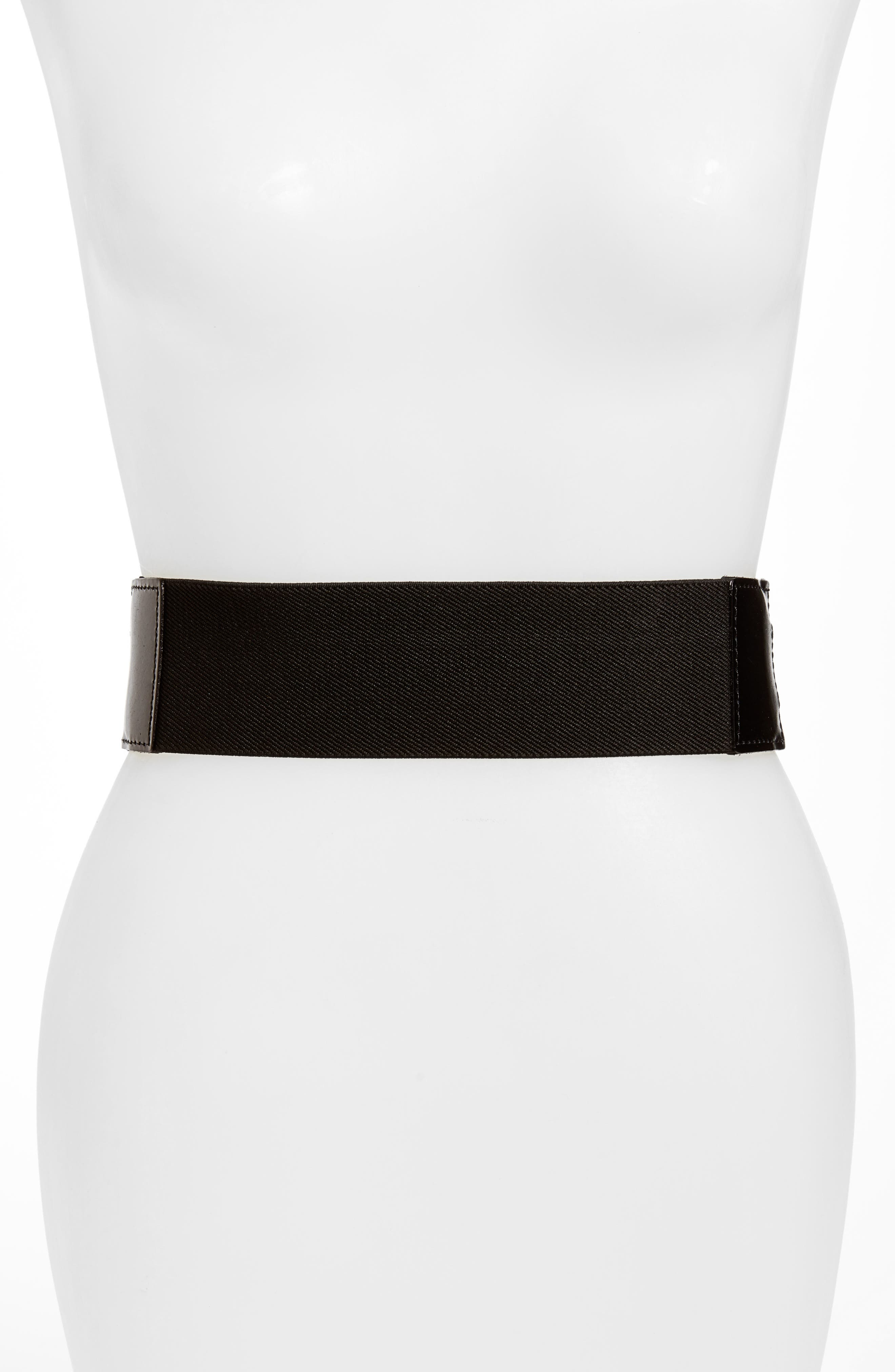 Skylar Stretch Belt,                             Alternate thumbnail 2, color,                             BLACK
