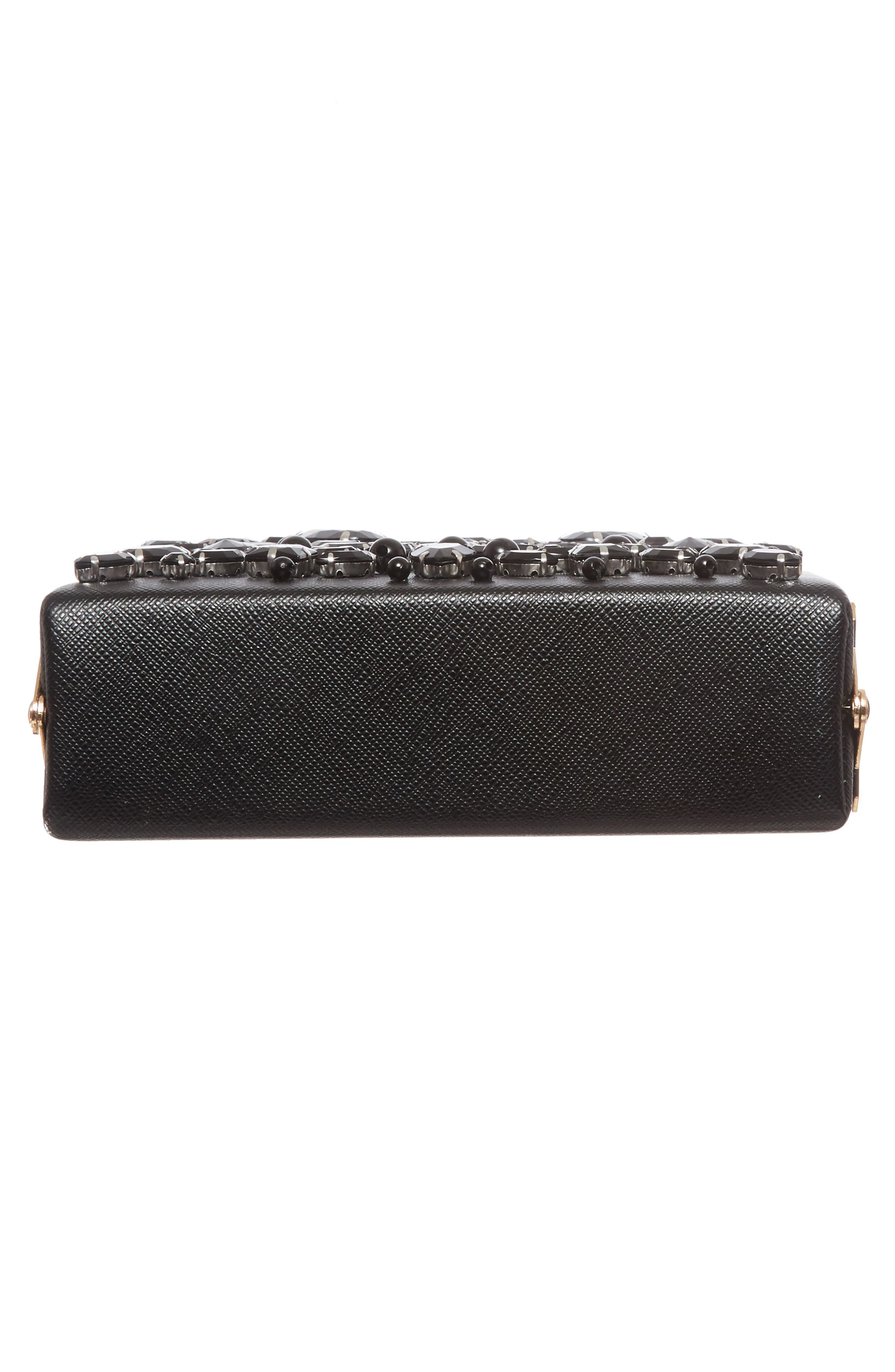 Crystal Box Clutch,                             Alternate thumbnail 6, color,                             001