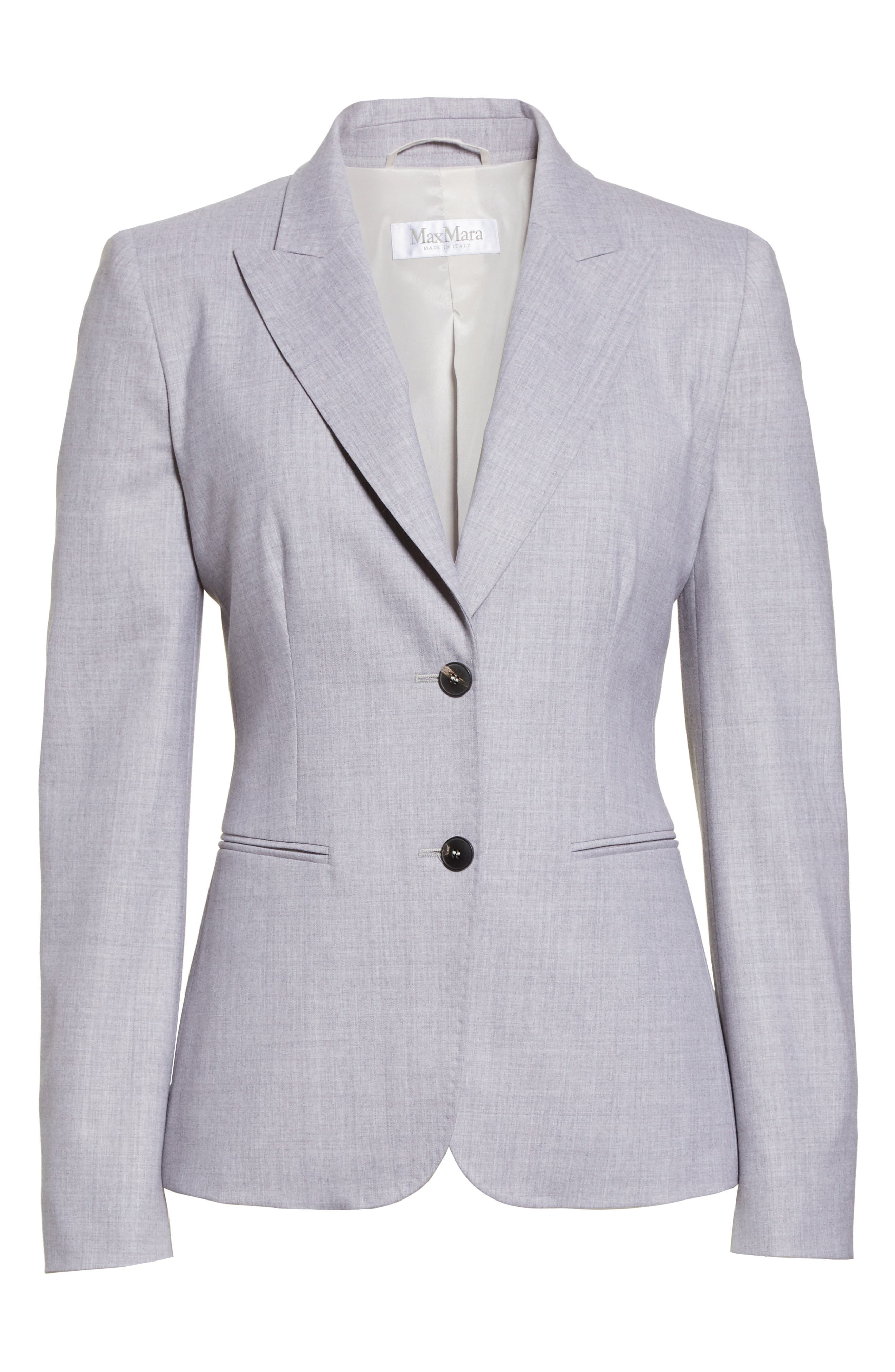 Stretch Wool Jacket,                             Alternate thumbnail 5, color,                             054