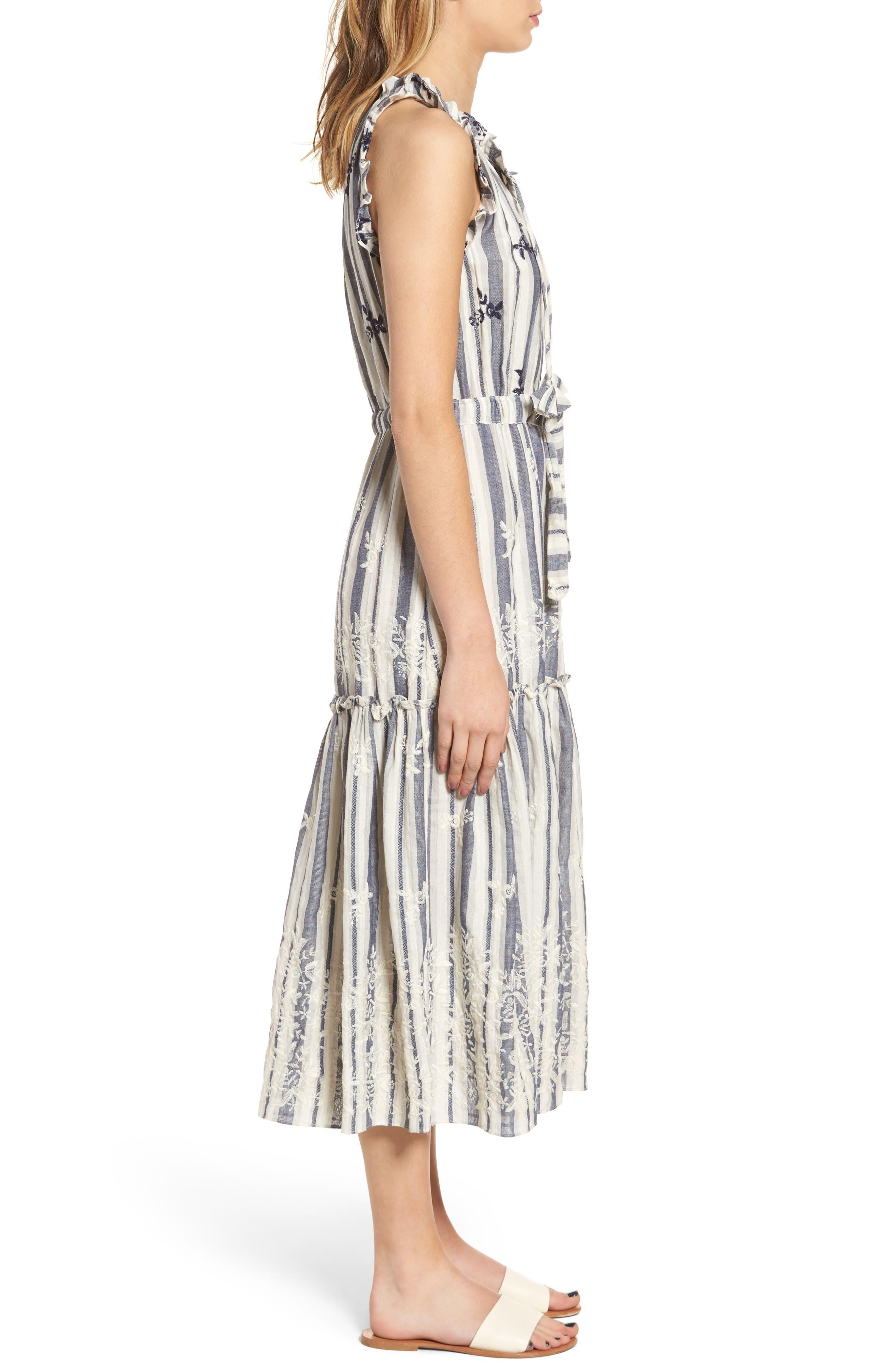 Martina Midi Dress,                             Alternate thumbnail 3, color,                             192
