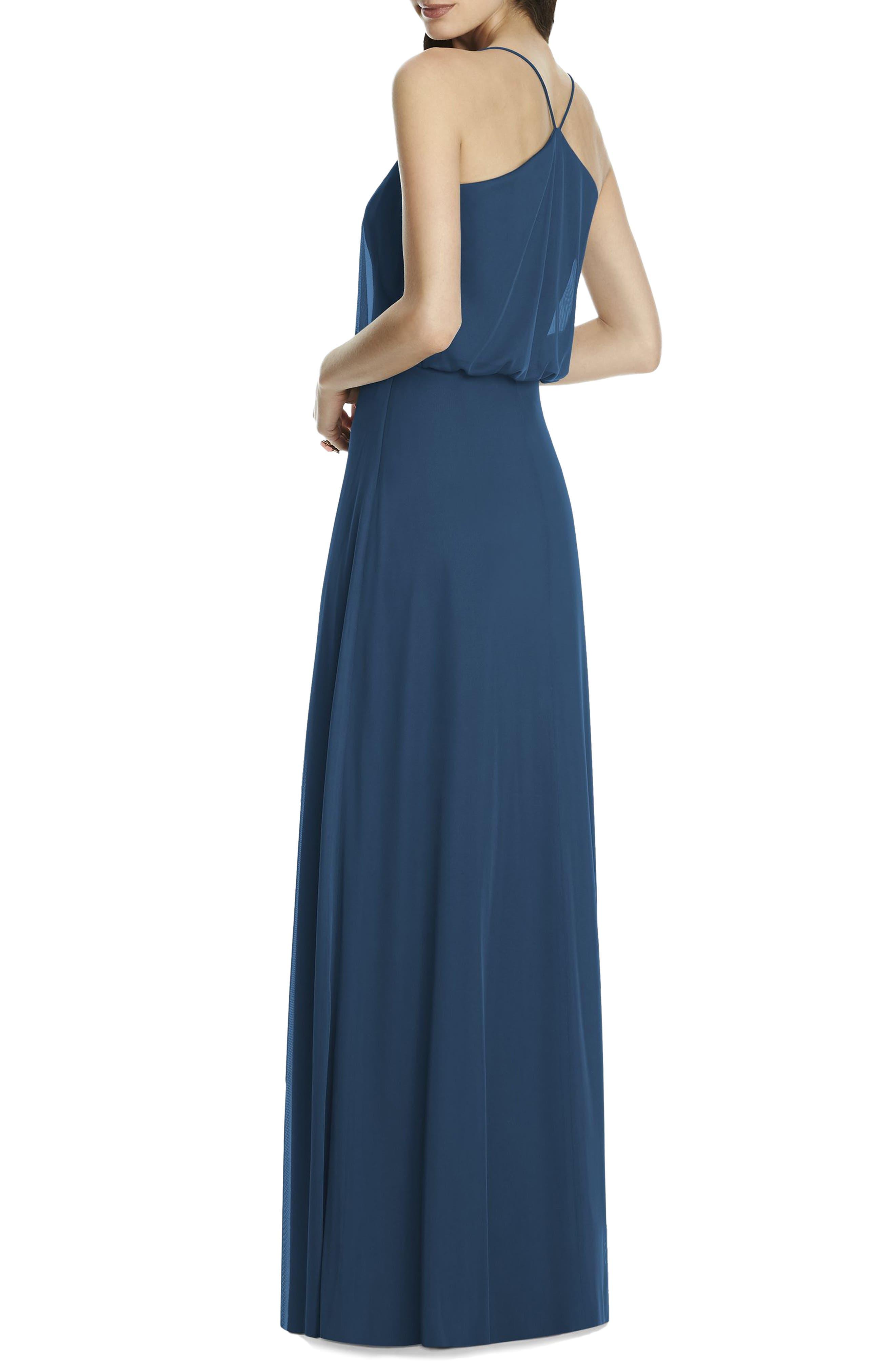 Chiffon Blouson Gown,                             Alternate thumbnail 6, color,