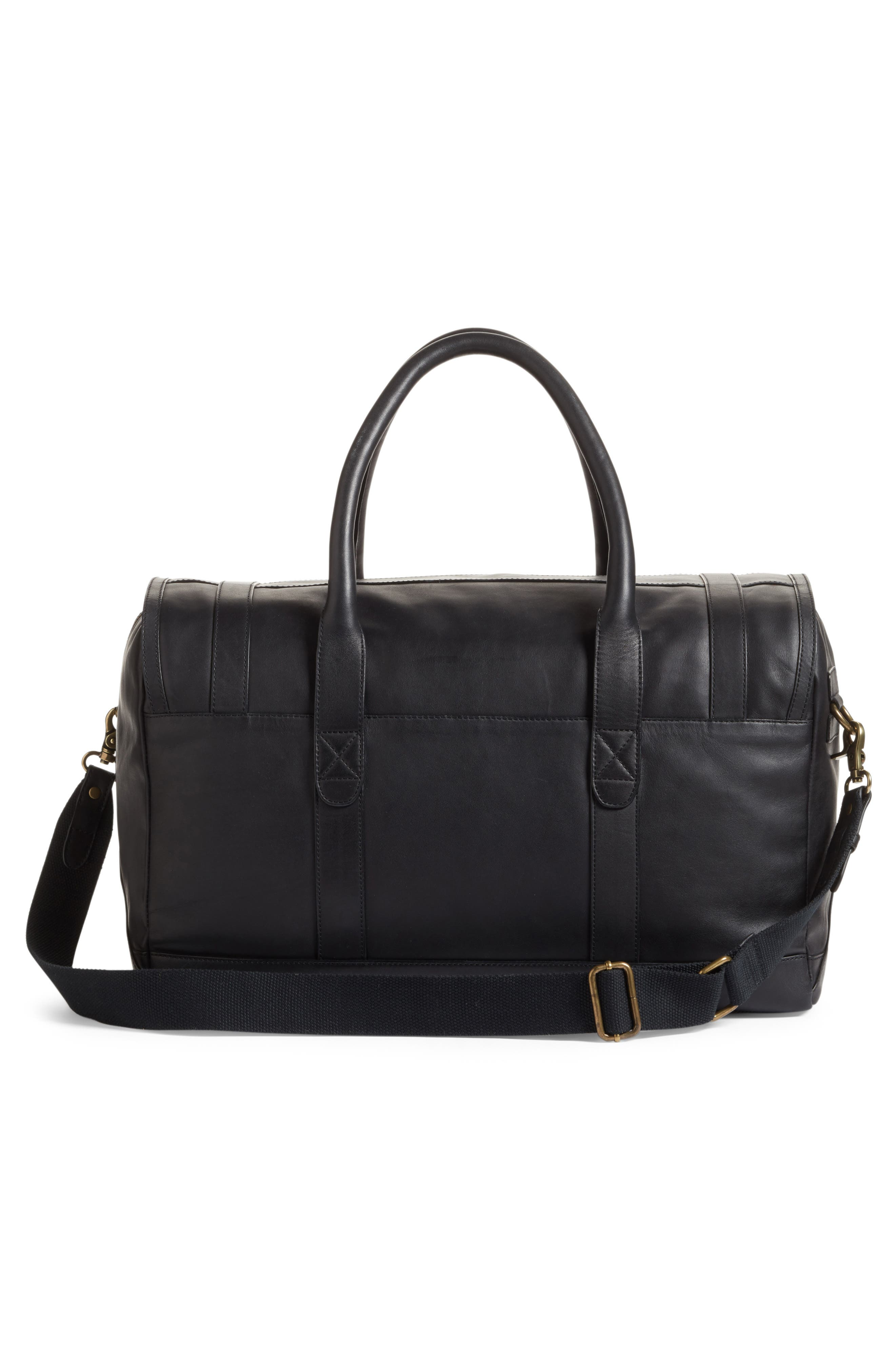Leather Duffel Bag,                             Alternate thumbnail 5, color,