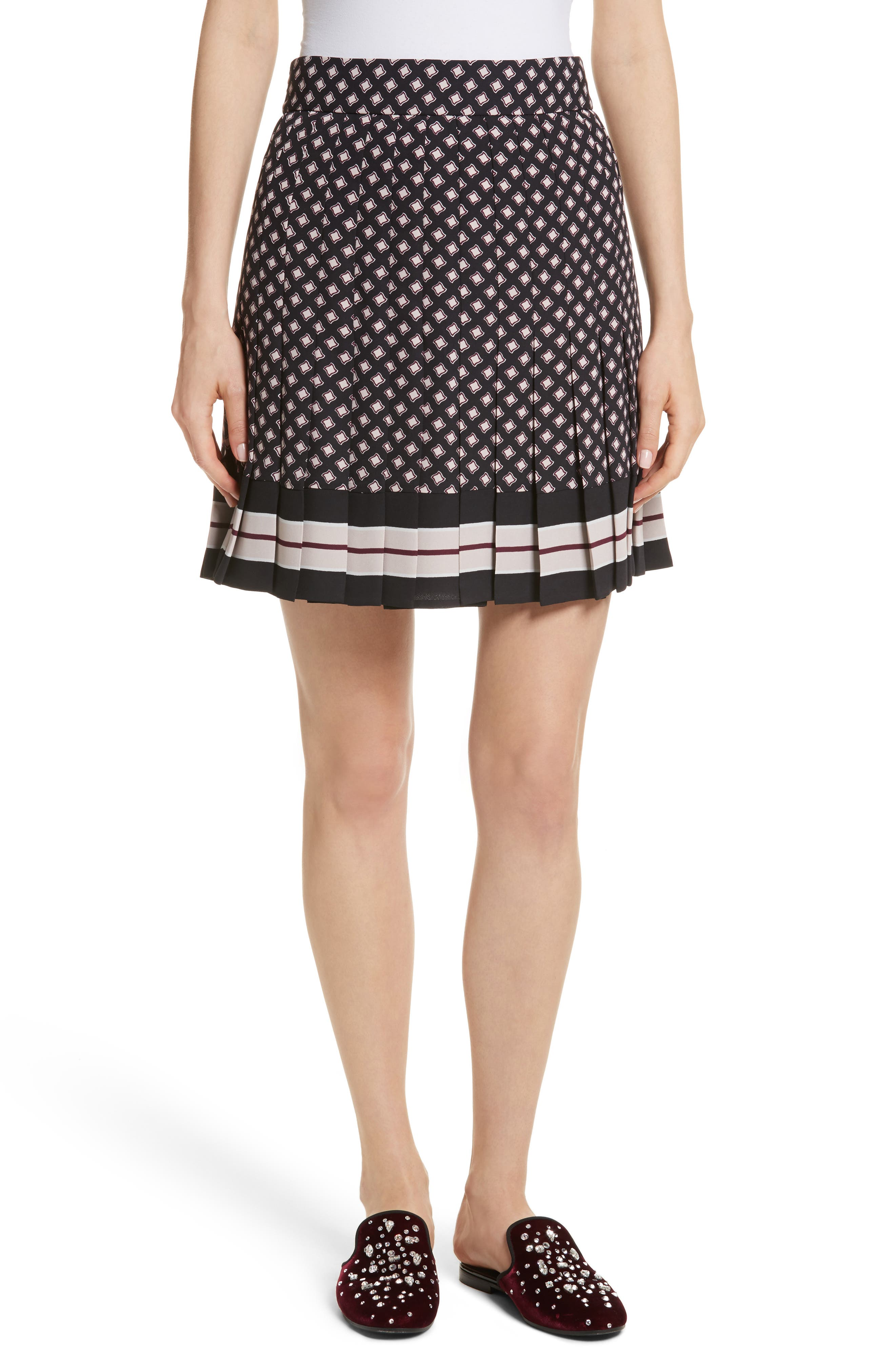 pleated skirt,                             Main thumbnail 1, color,