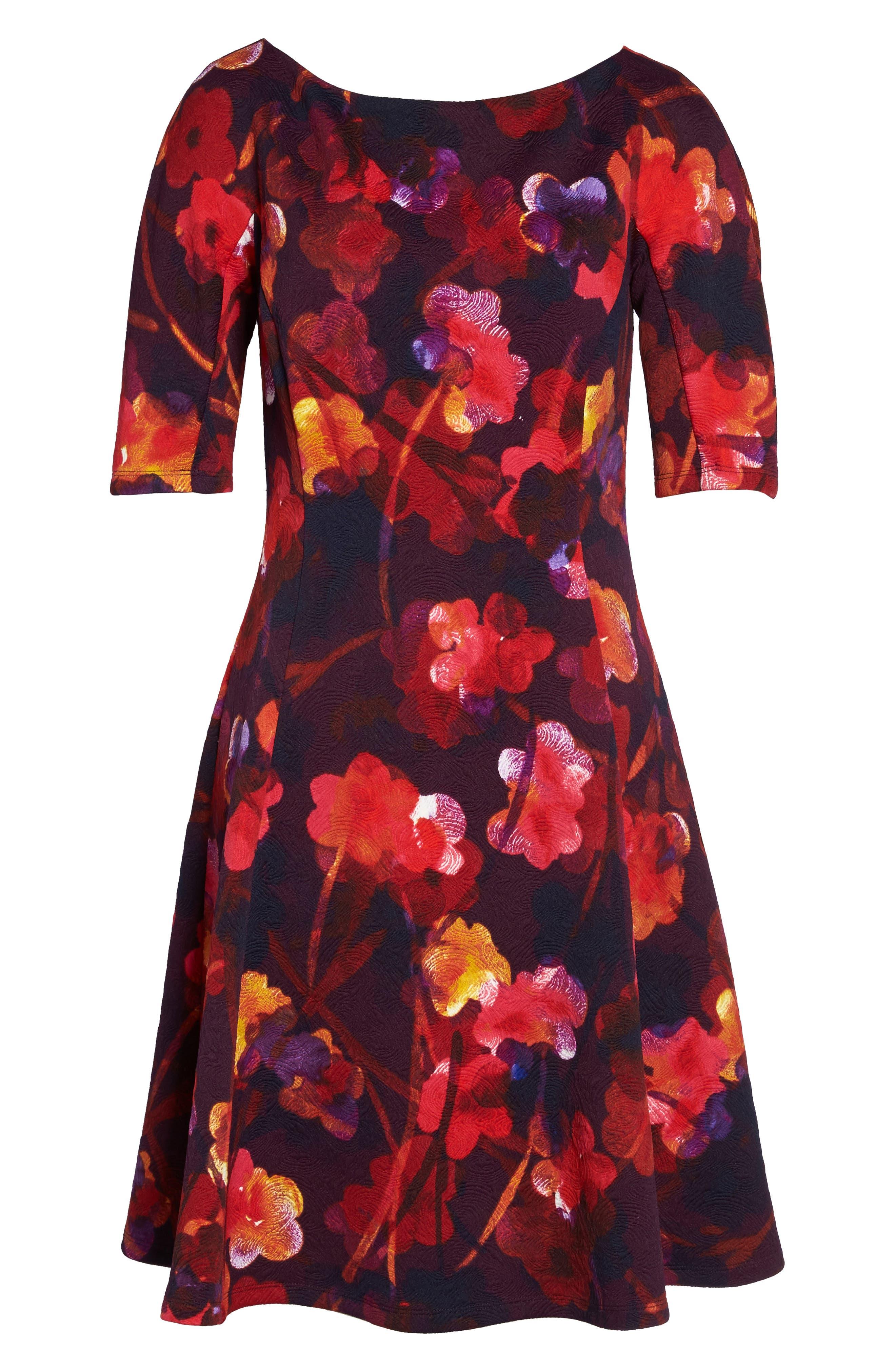 Fit & Flare Dress,                             Alternate thumbnail 6, color,                             646