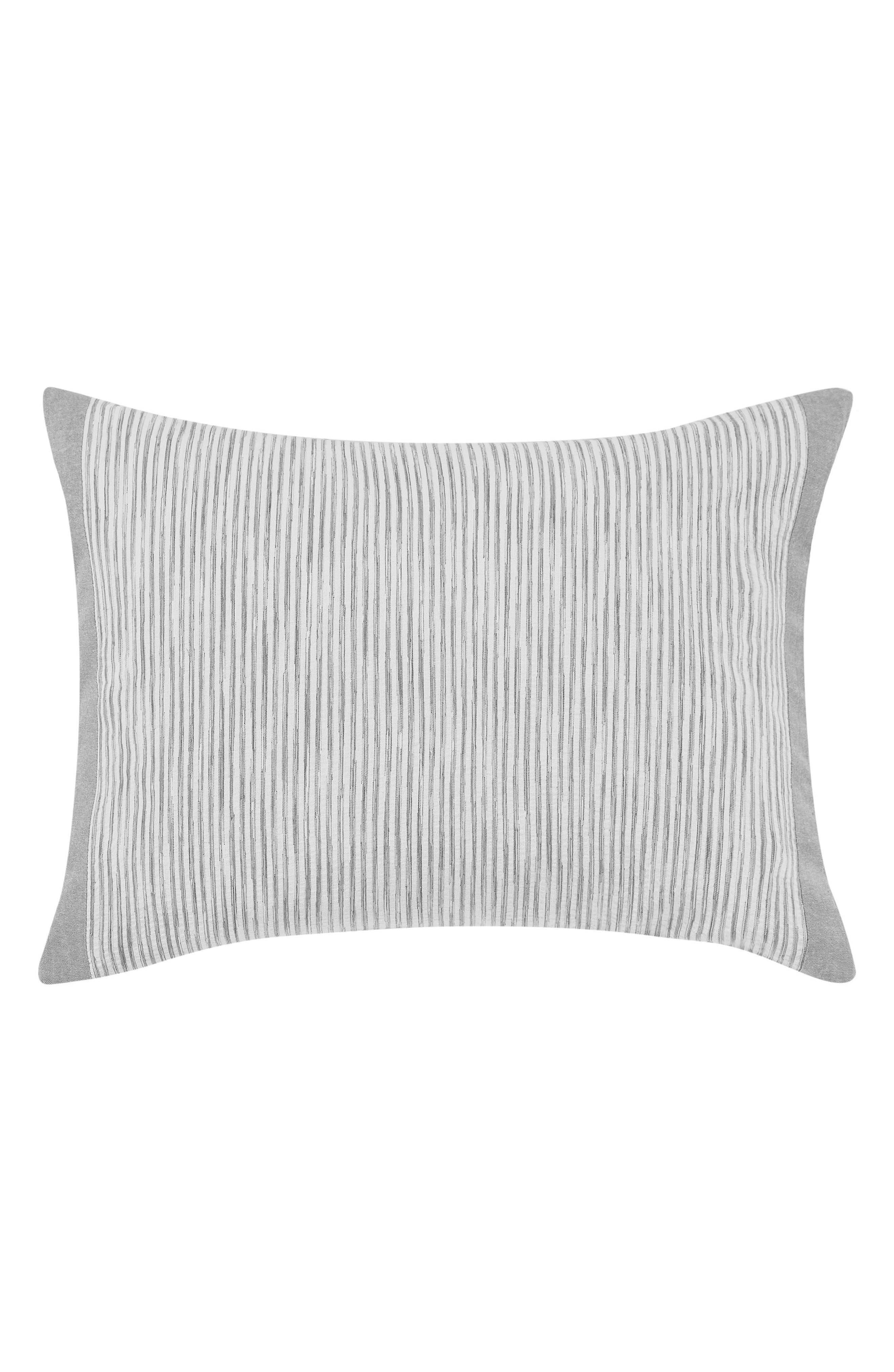 Claremont Stripe Accent Pillow,                             Main thumbnail 1, color,                             PASTEL GREY