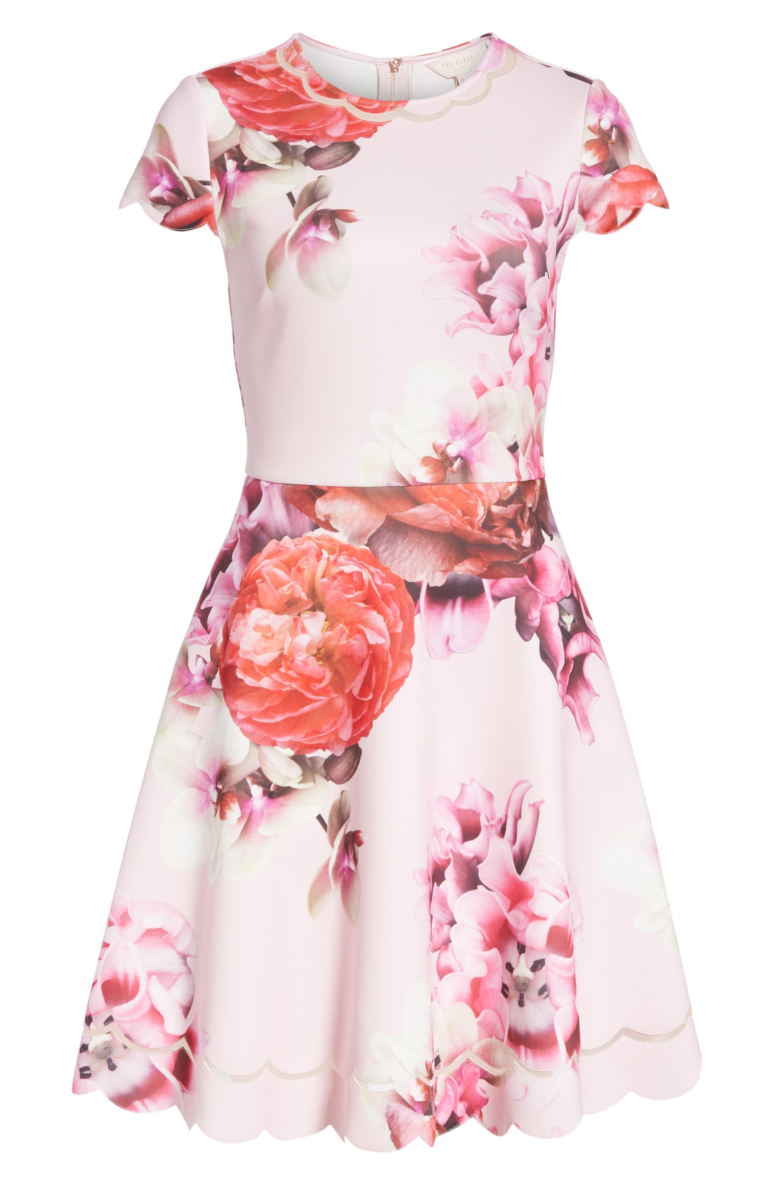 Seeana Splendour Skater Dress,                             Alternate thumbnail 6, color,                             683