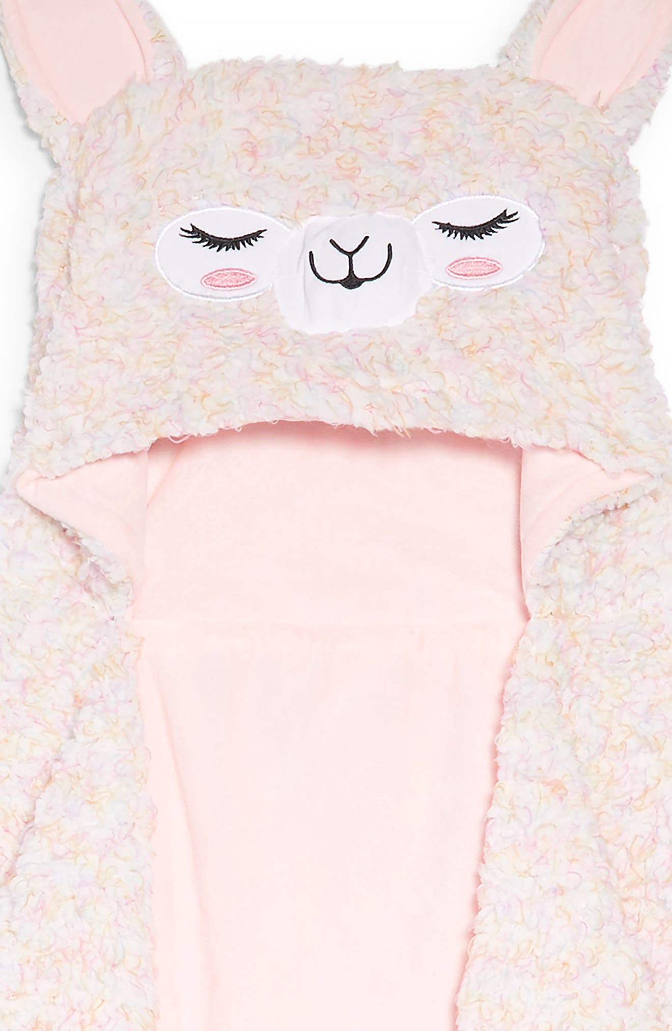 Alpaca Hooded Blanket,                             Alternate thumbnail 2, color,                             650