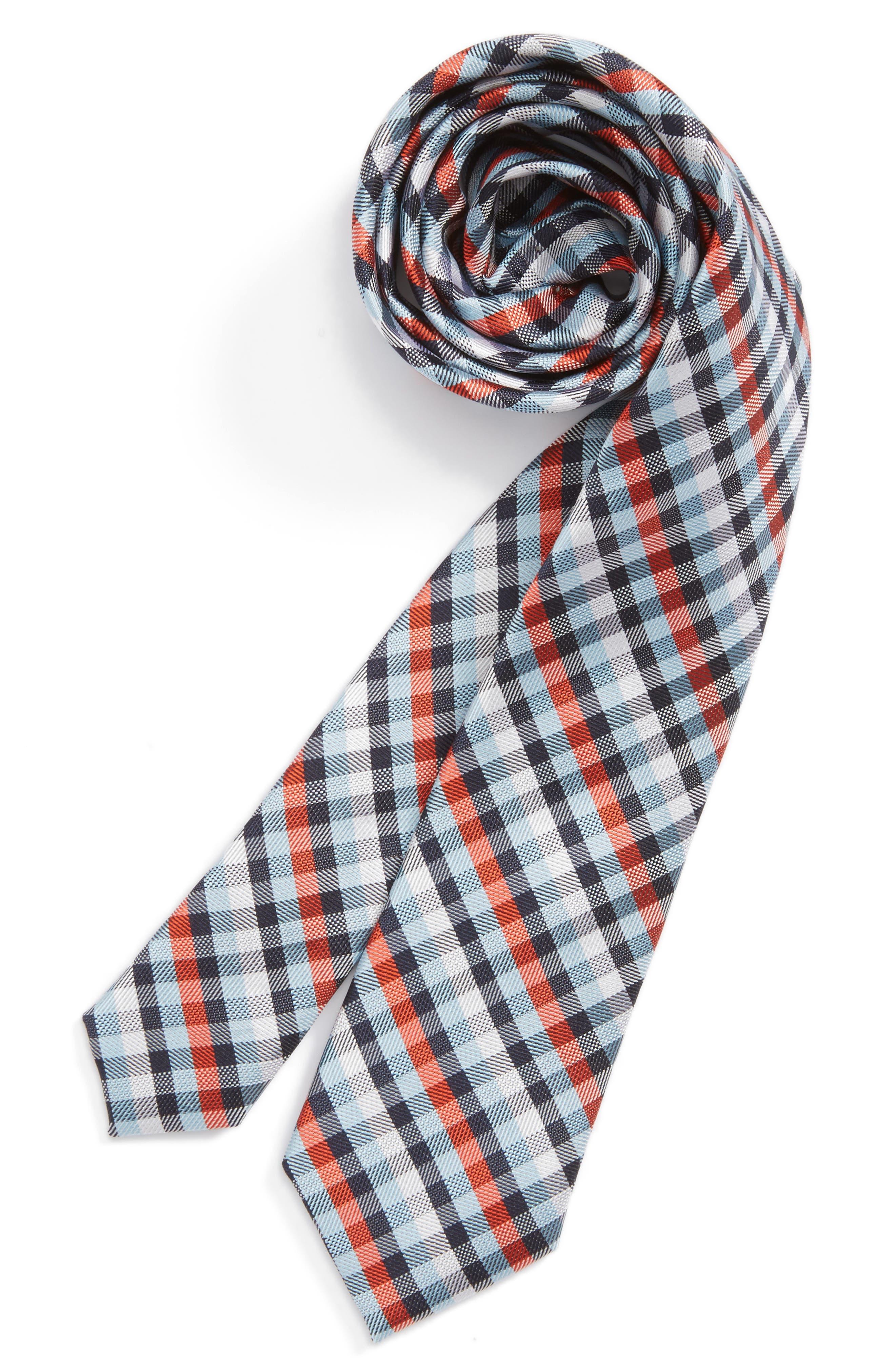 Check Silk Tie,                             Main thumbnail 12, color,