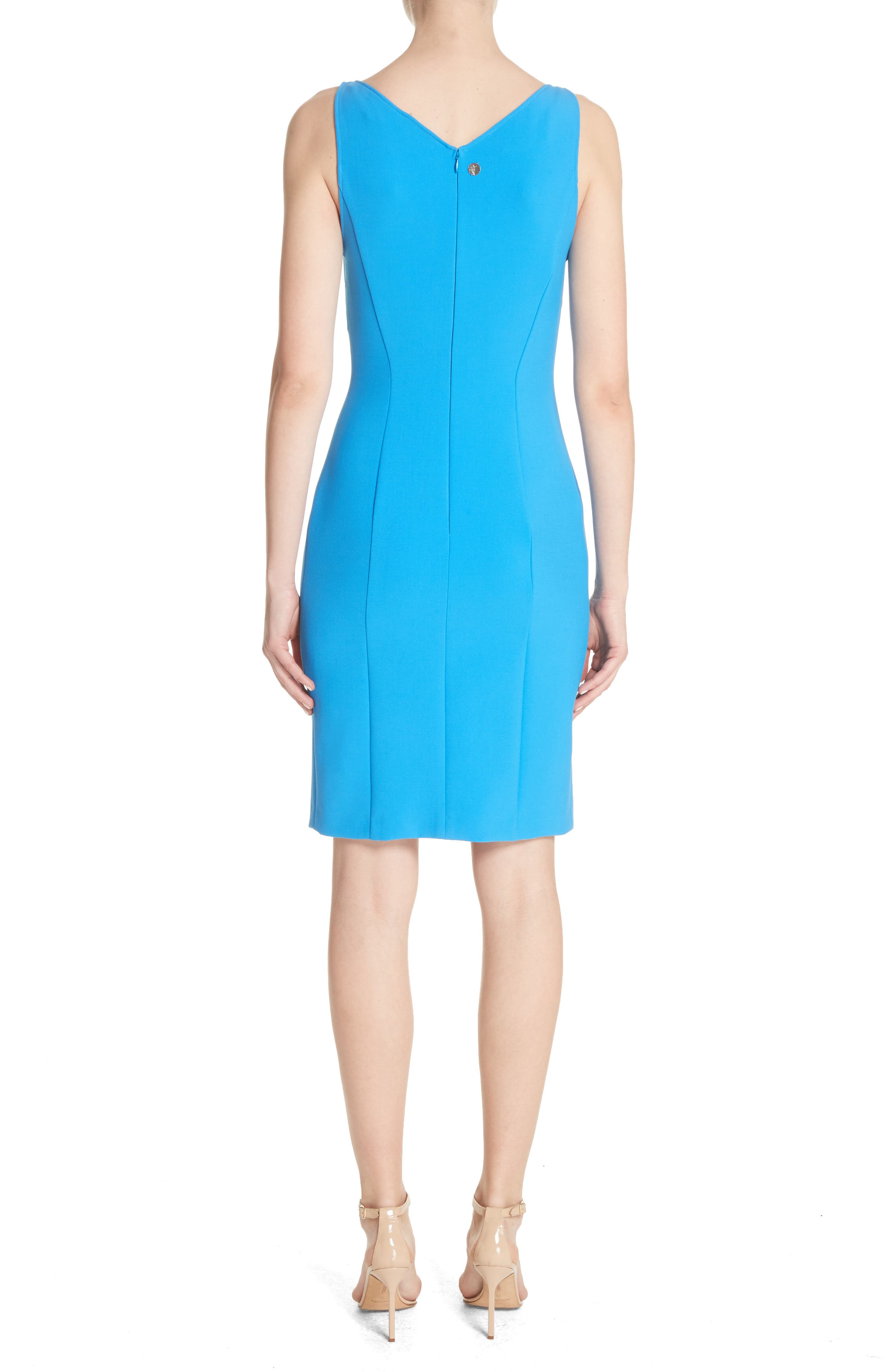 Stretch Cady Sheath Dress,                             Alternate thumbnail 2, color,                             405