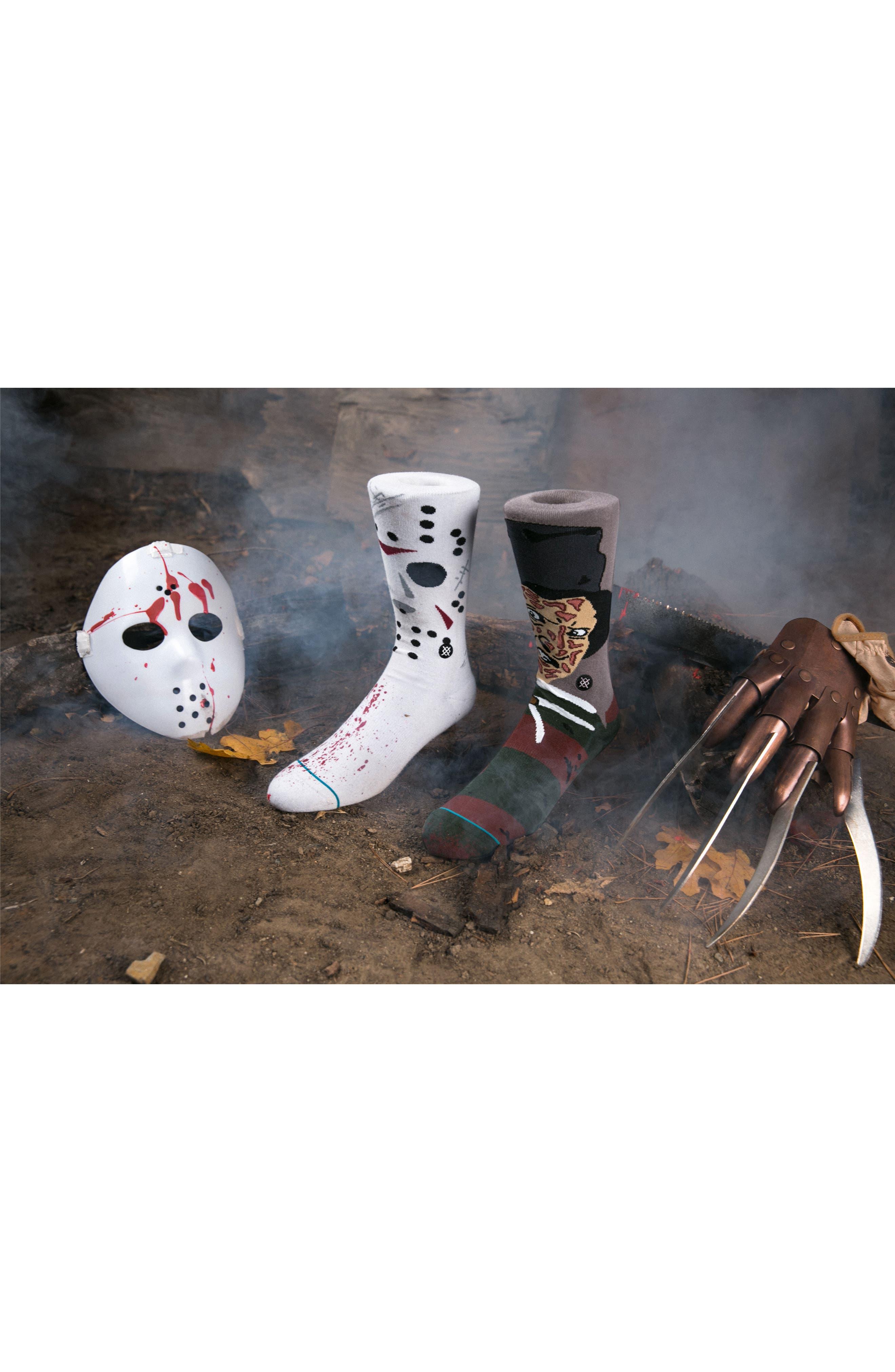 Freddy Krueger - Legends of Horror Socks,                             Alternate thumbnail 5, color,                             001