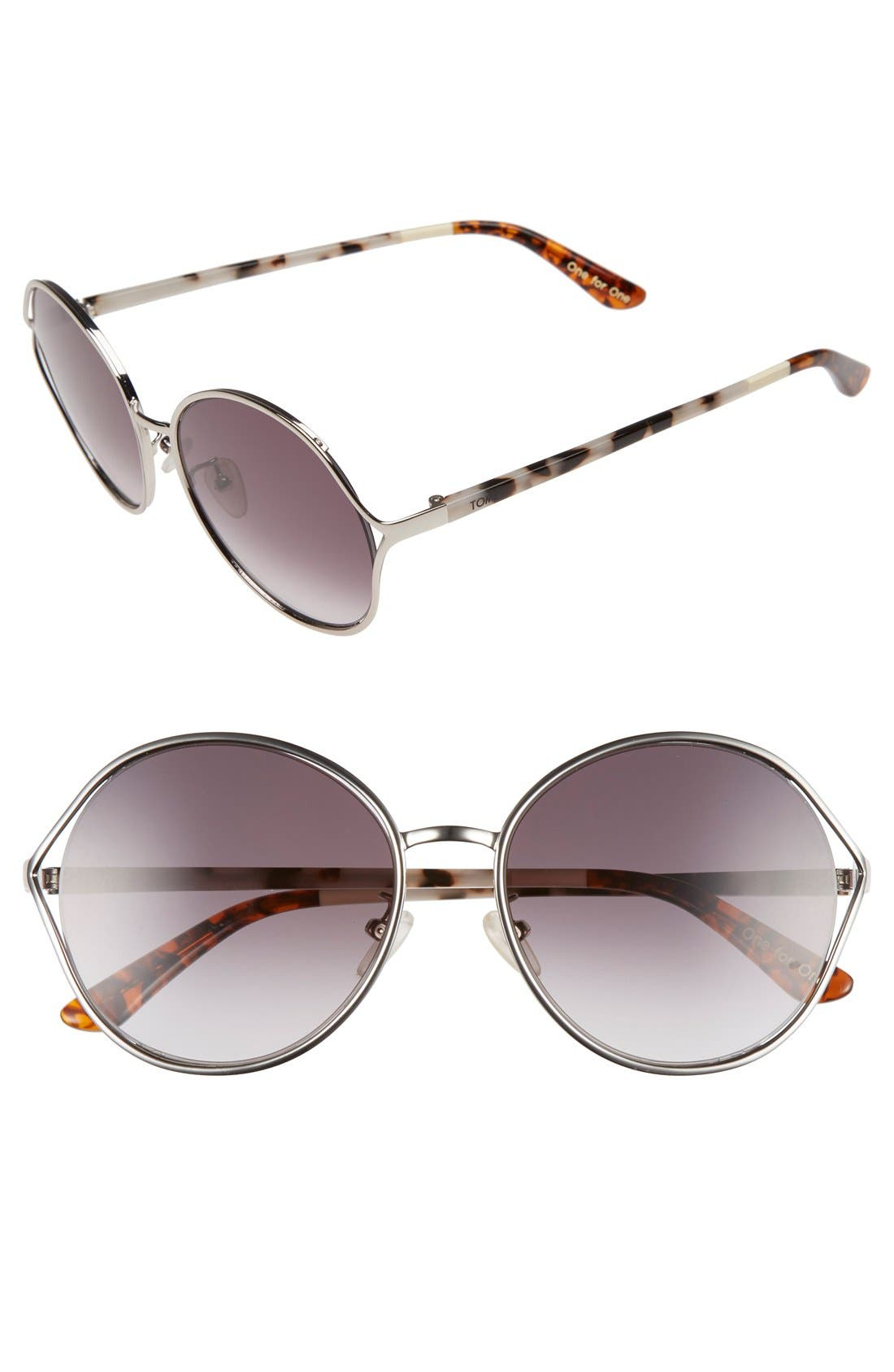 'Blythe' 57.5mm Sunglasses,                             Main thumbnail 1, color,                             040
