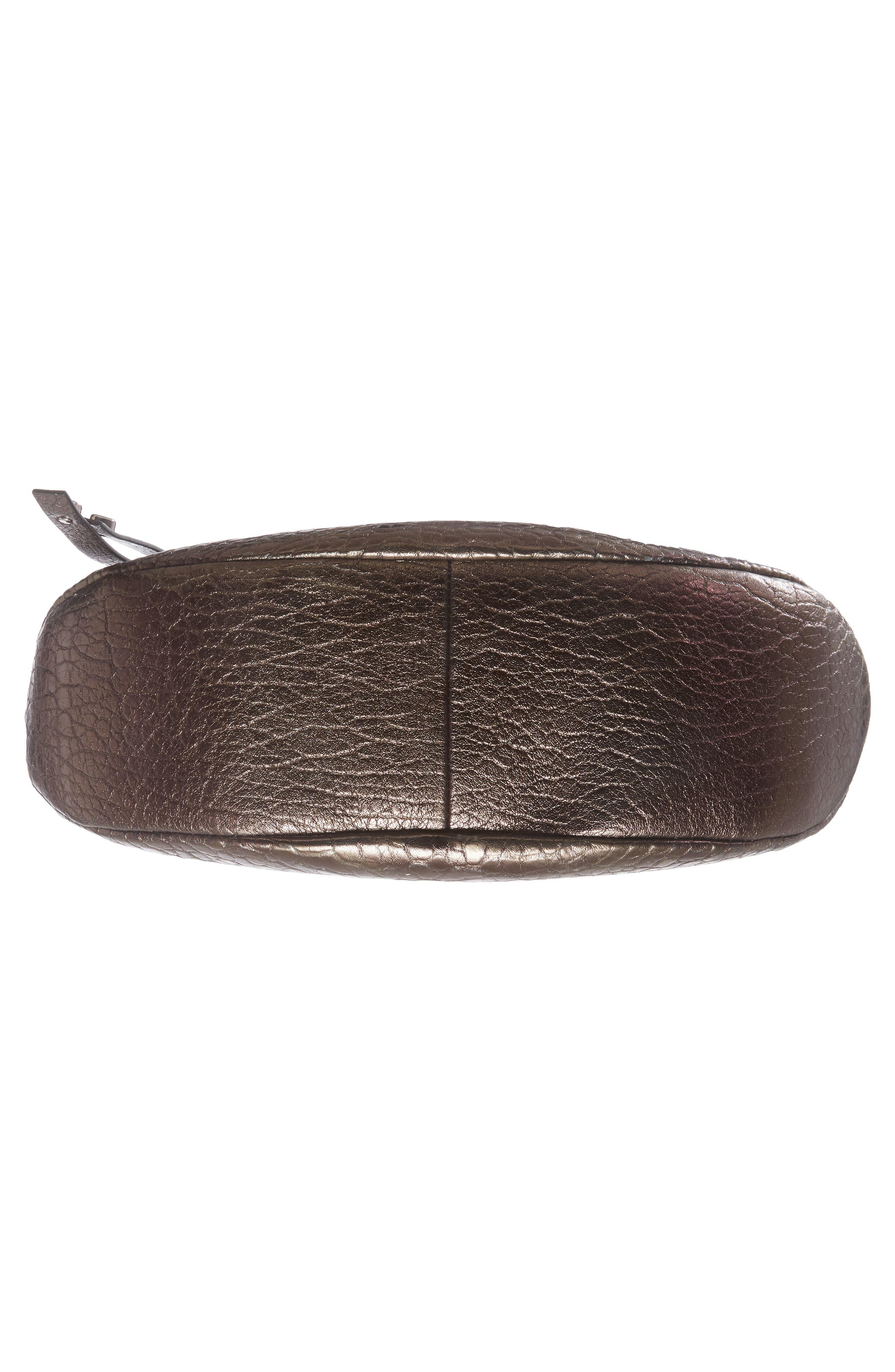 Artie Metallic Leather Hobo Bag,                             Alternate thumbnail 6, color,                             200