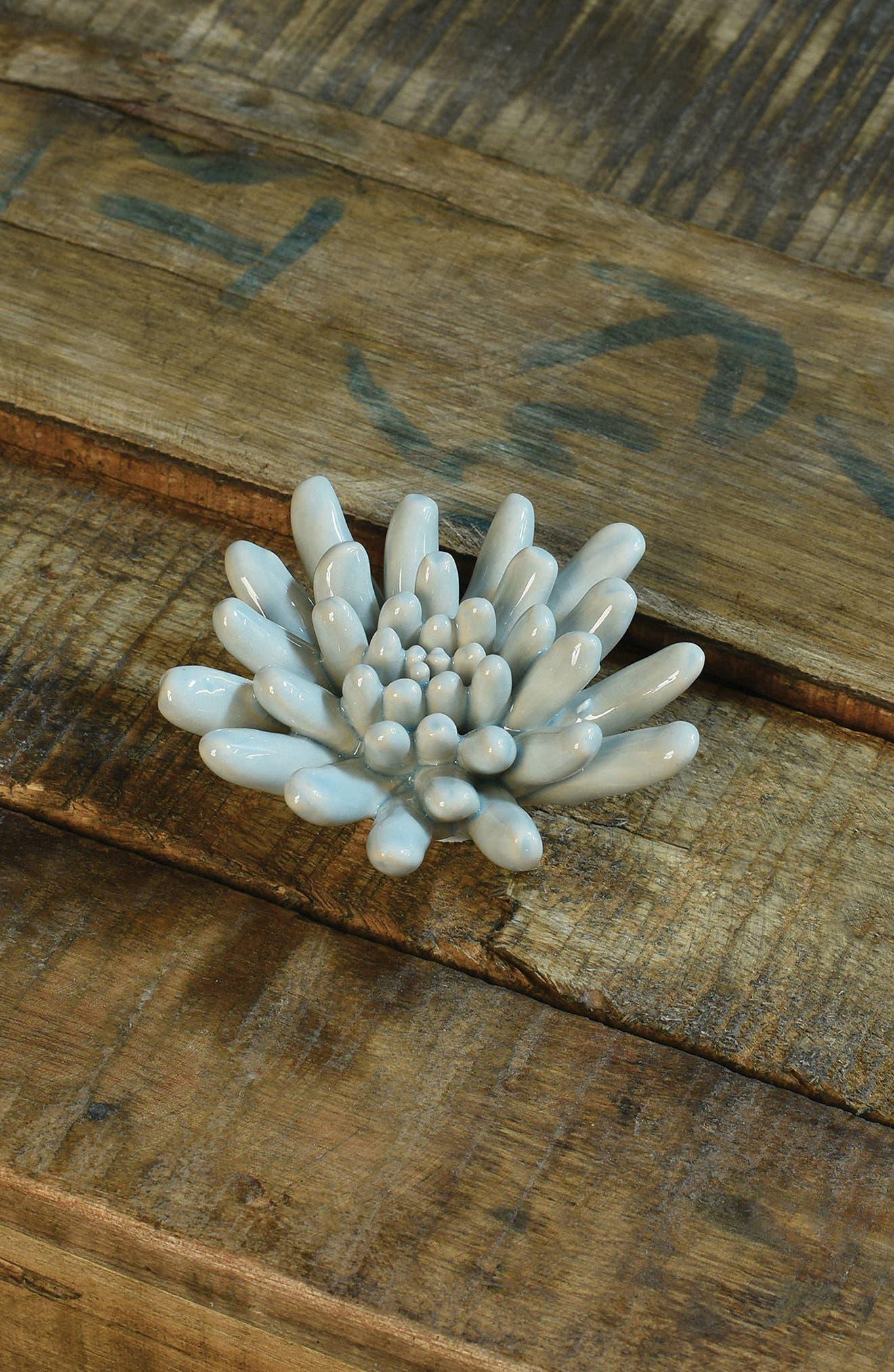 Ceramic Succulent,                             Alternate thumbnail 2, color,                             SOFT BLUE