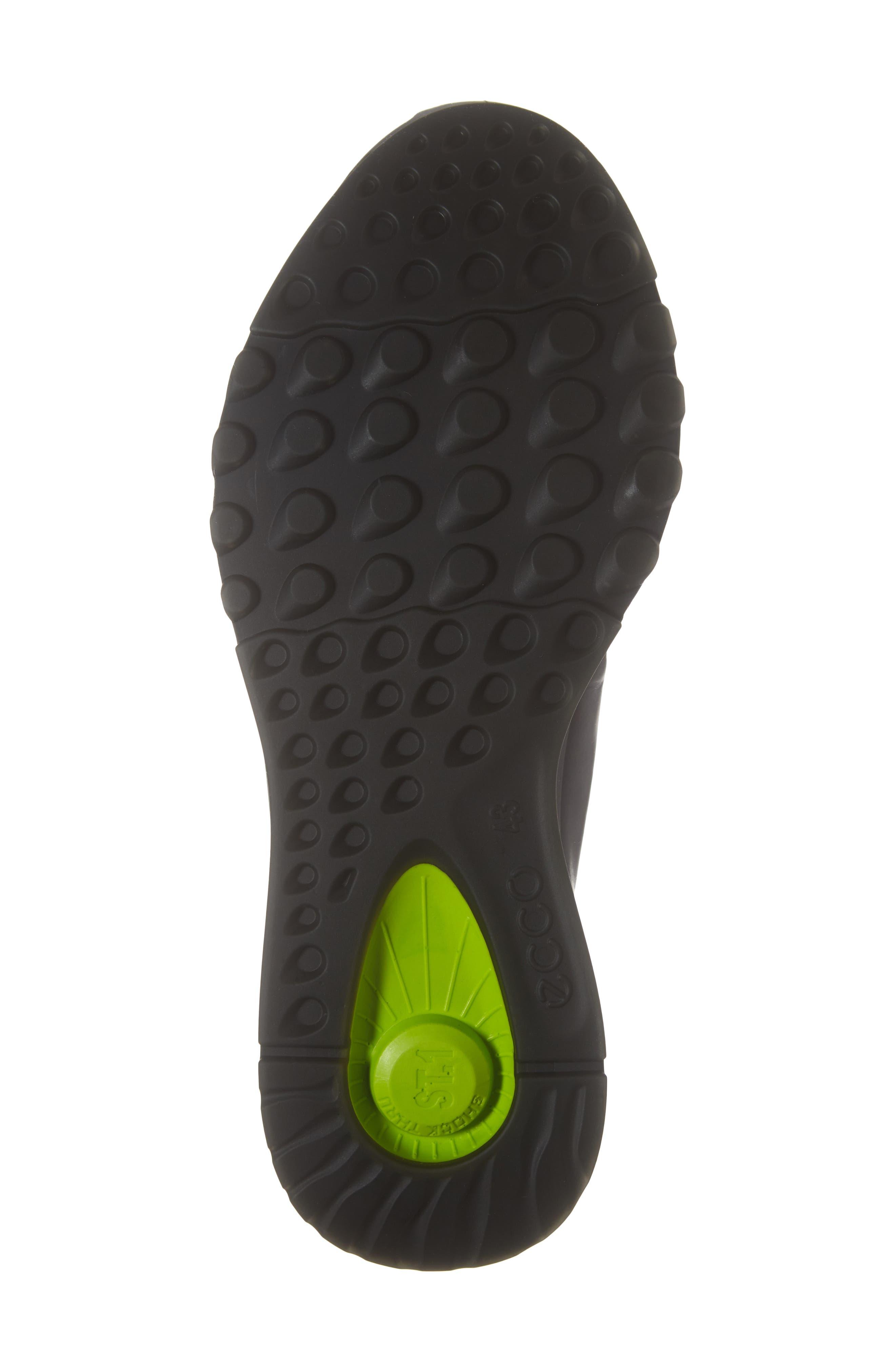 ST1 High Top Sneaker,                             Alternate thumbnail 6, color,                             BLACK/BLACK LEATHER