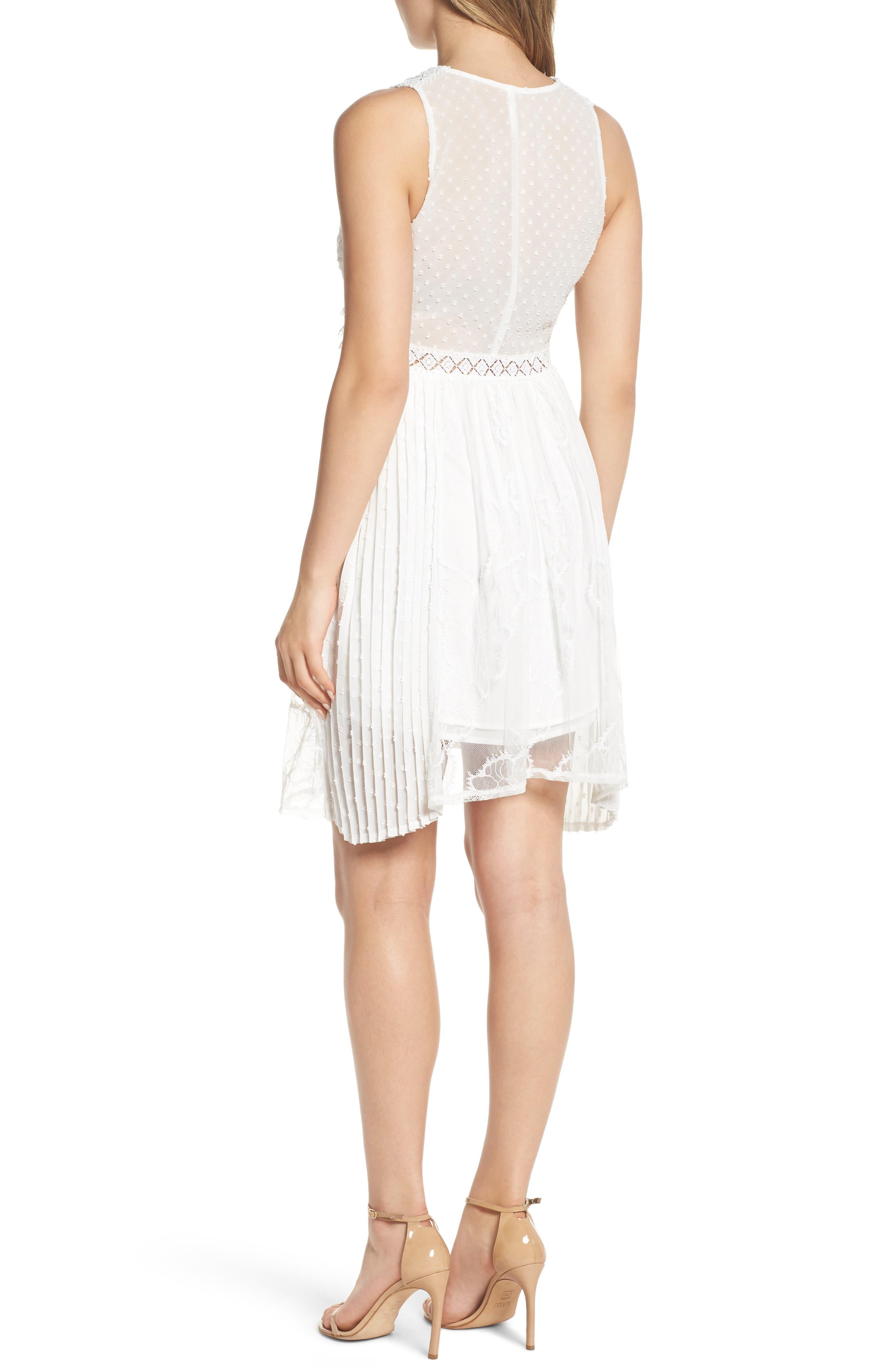 Babette Lace Inset Party Dress,                             Alternate thumbnail 2, color,                             100