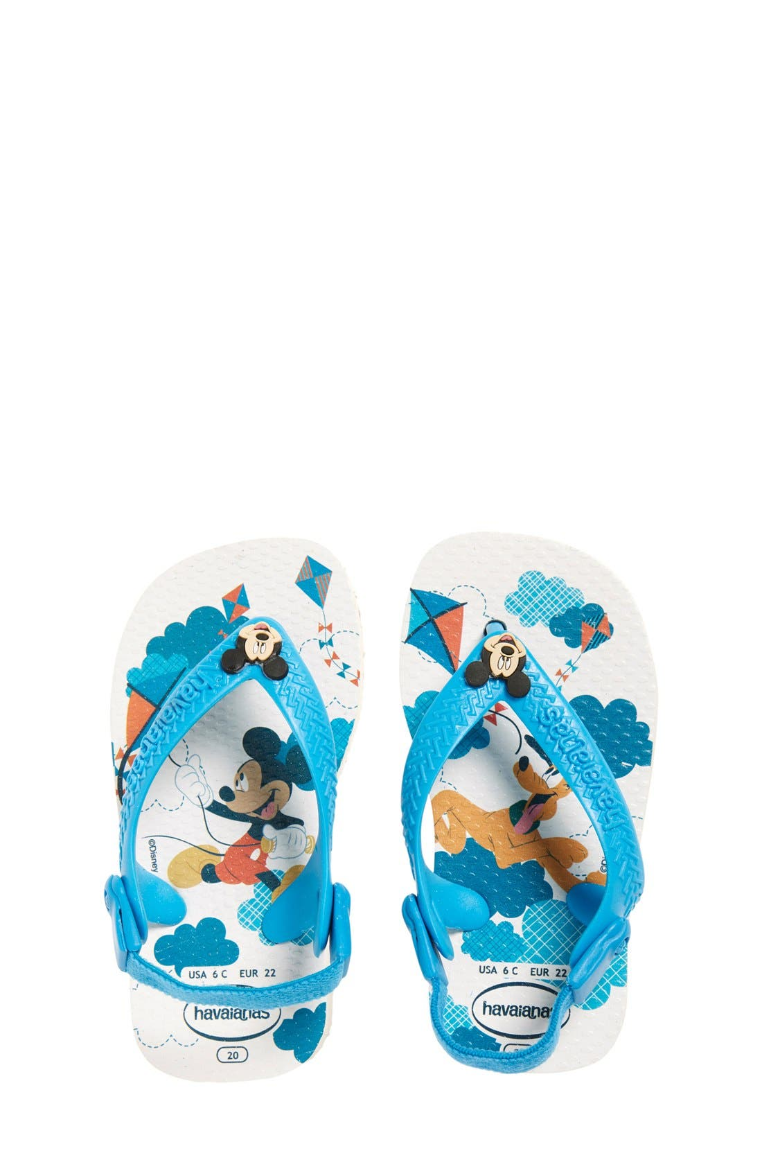'Disney<sup>®</sup> - Mickey & Pluto' Flip Flop,                             Main thumbnail 1, color,                             400