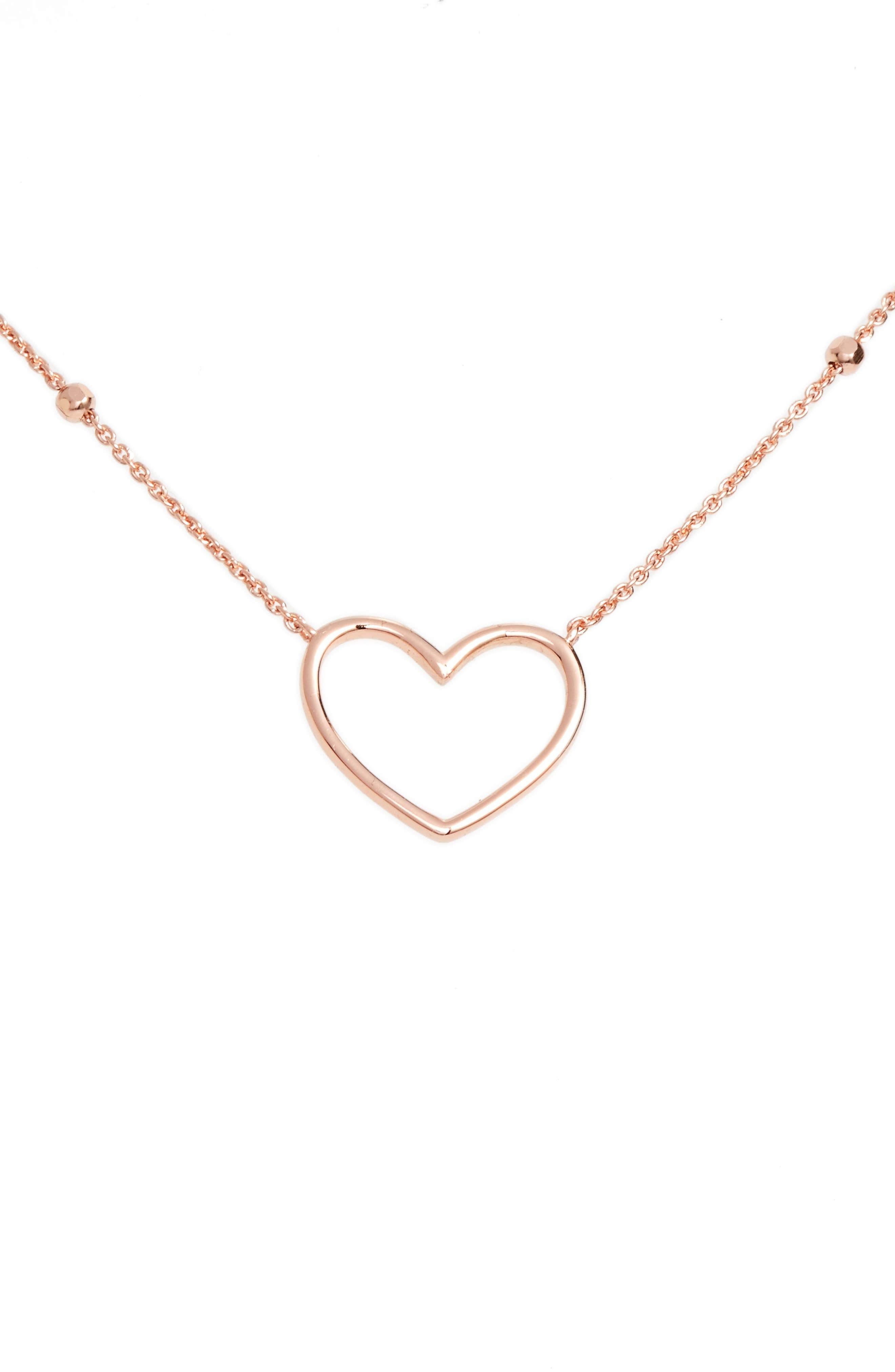 Heart Pendant Necklace,                             Main thumbnail 2, color,