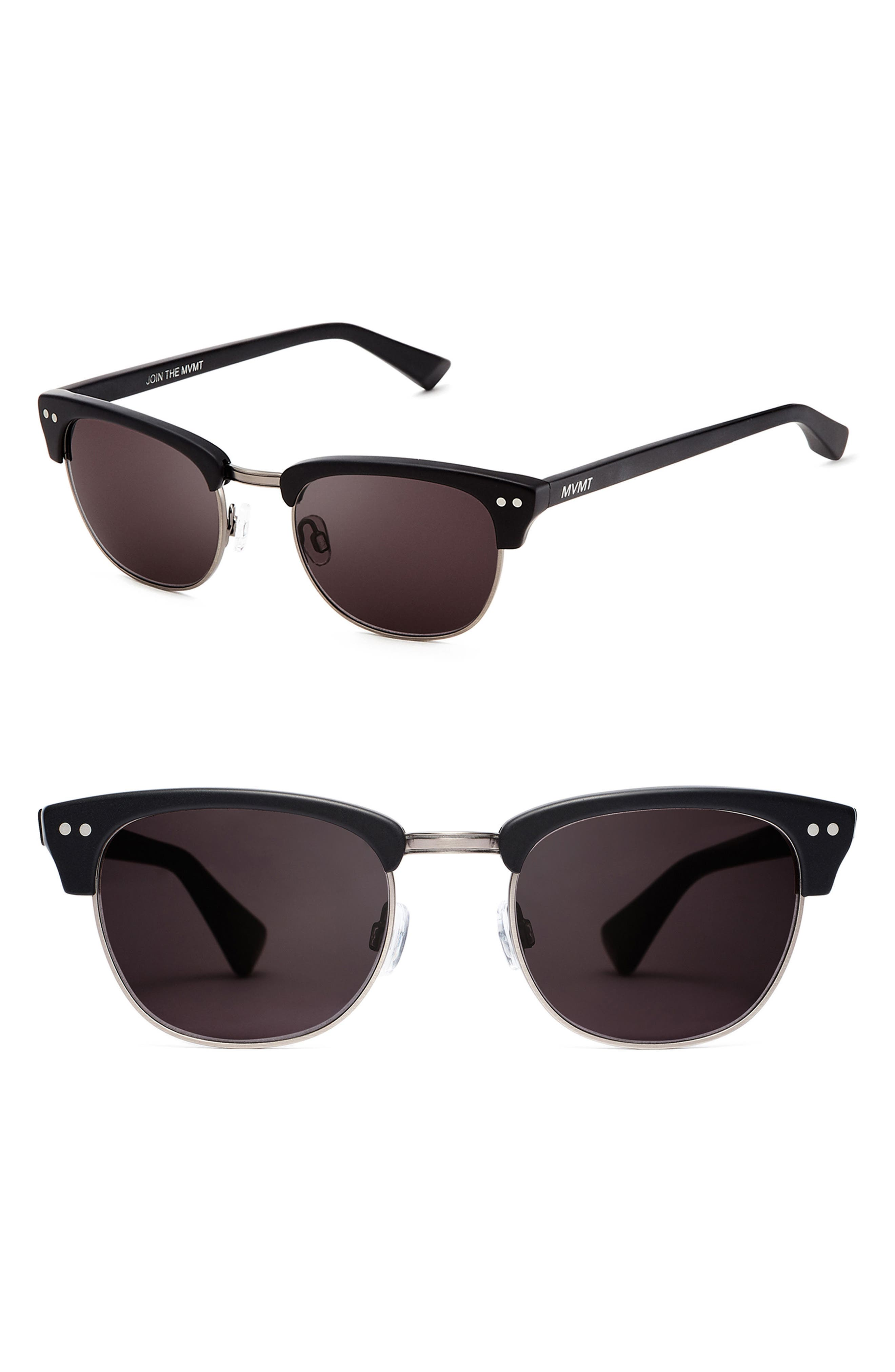 Legend 49mm Polarized Sunglasses,                         Main,                         color, MATTE BLACK
