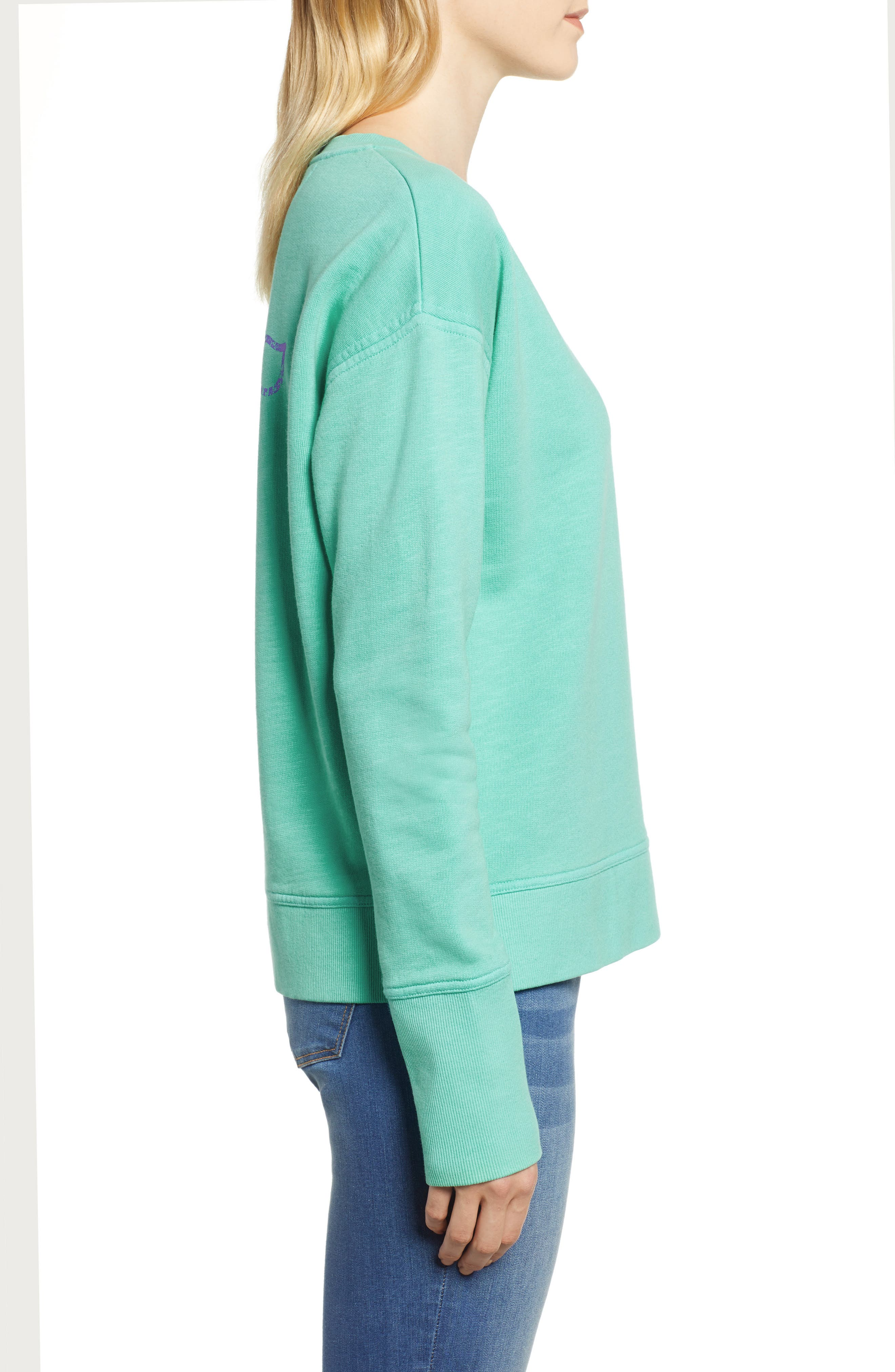 Garment Dyed Vintage Whale Long Sleeve Cotton Tee,                             Alternate thumbnail 3, color,                             464