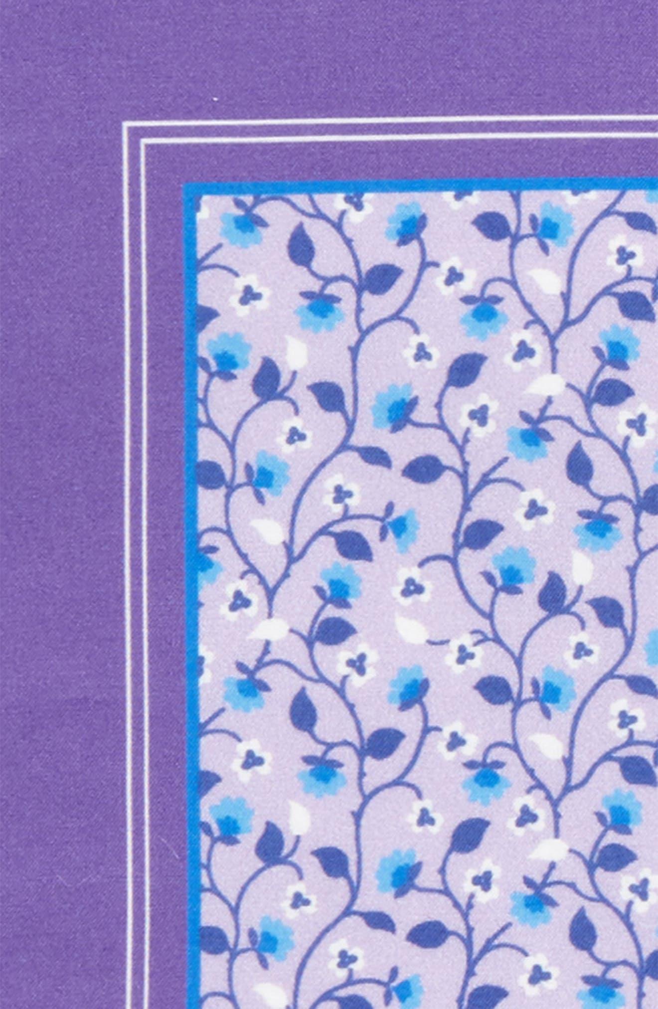 Floral Cotton Pocket Square,                             Alternate thumbnail 3, color,                             500