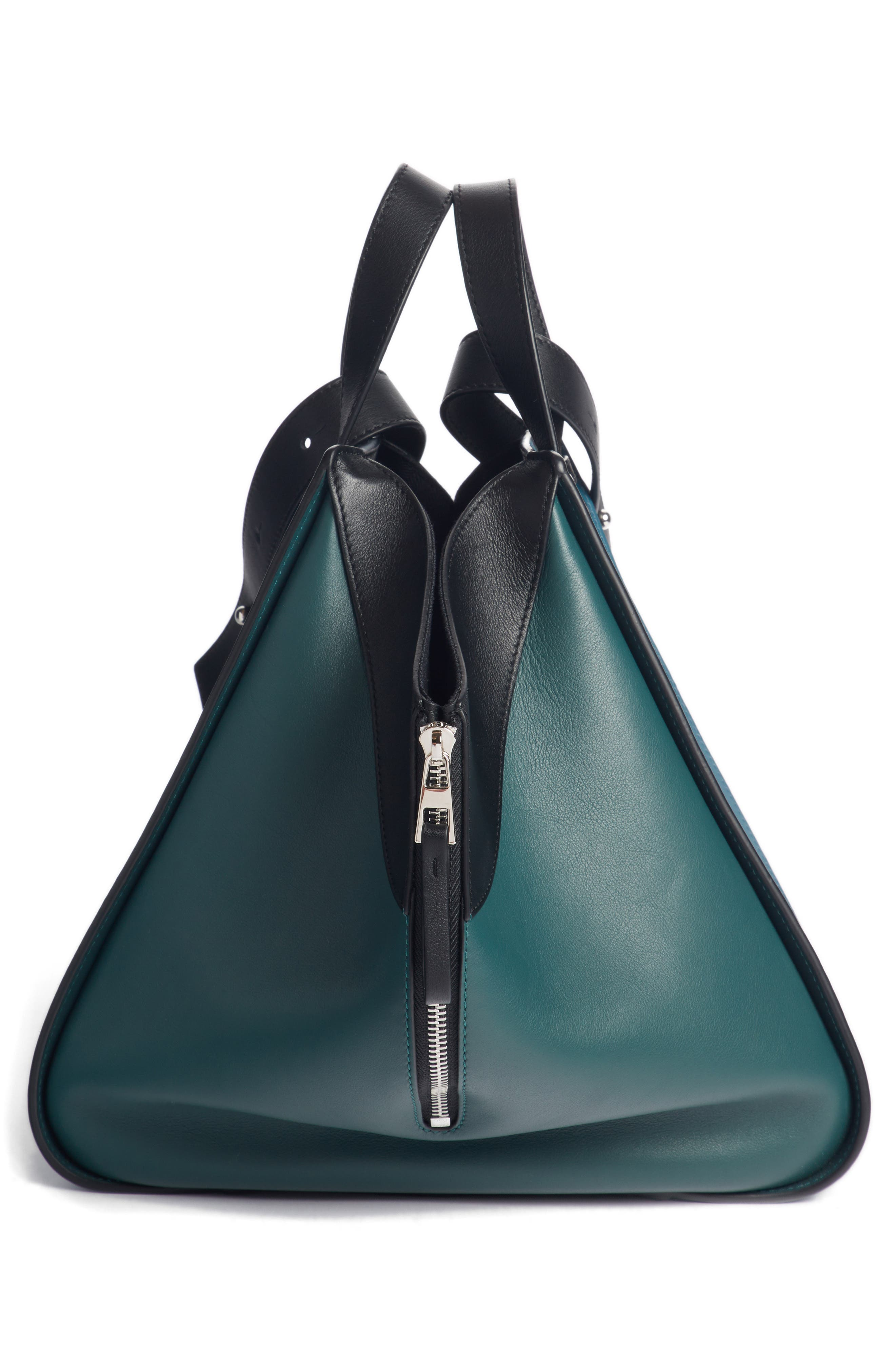 Small Hammock Tricolor Pebbled Leather Hobo,                             Alternate thumbnail 4, color,                             405