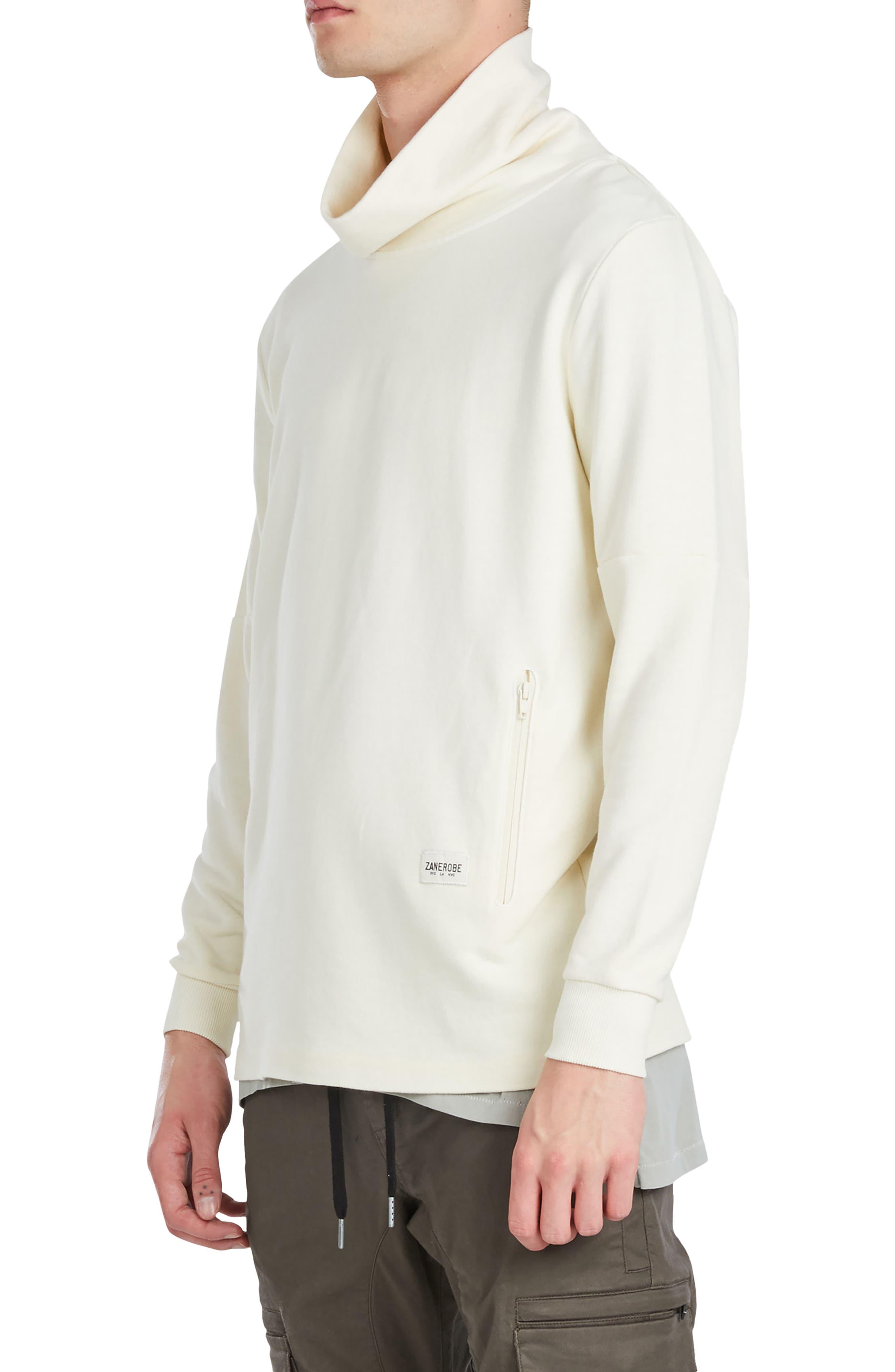 Mock Neck Sweatshirt,                             Alternate thumbnail 7, color,
